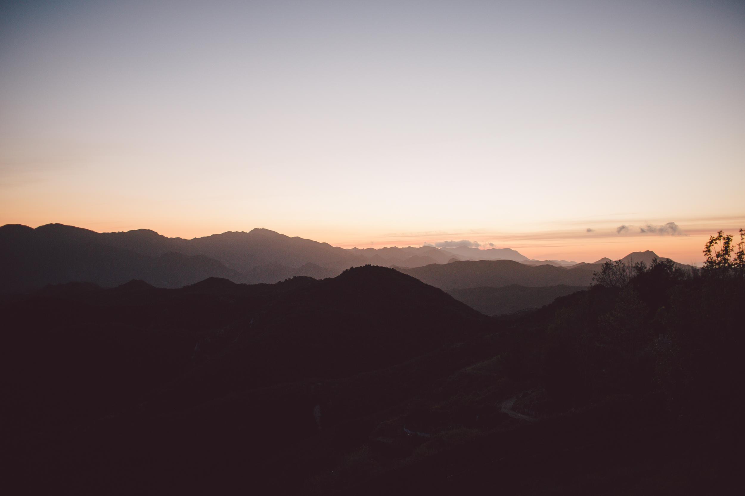 santa monica-mountains-elopement-sunset