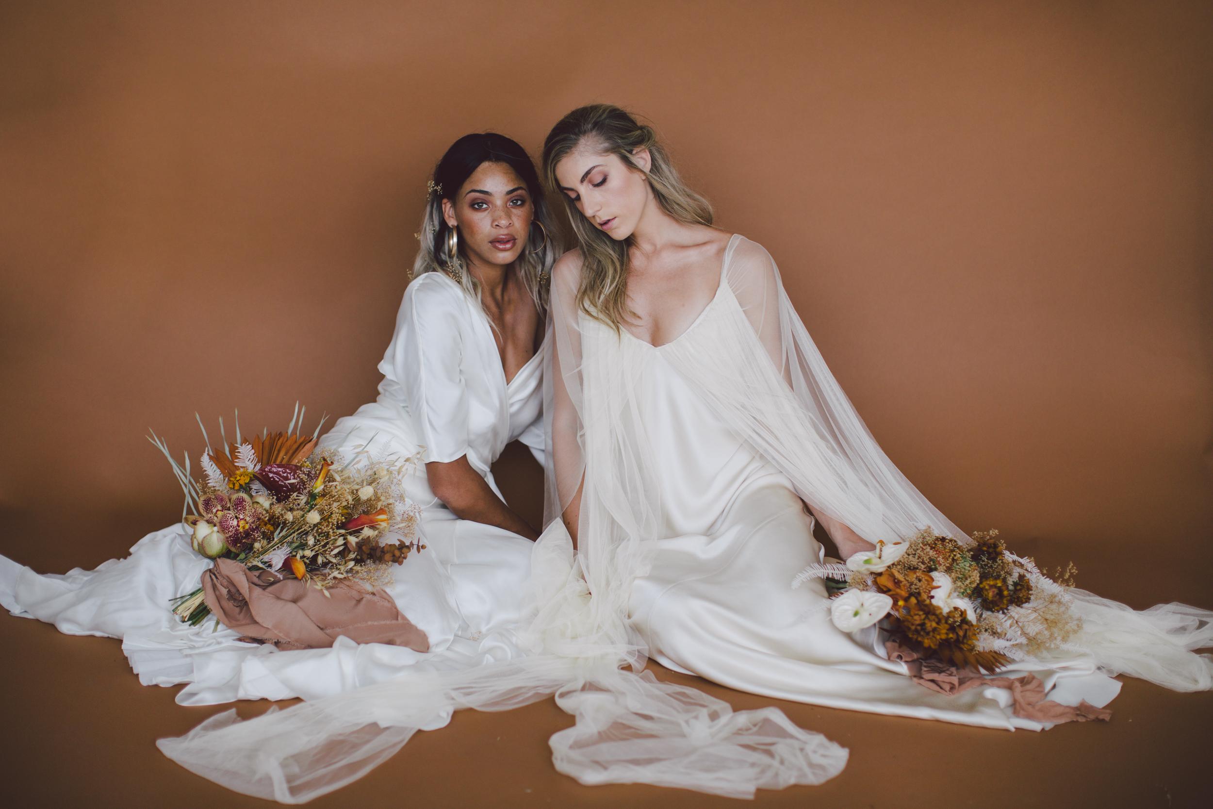 cortana simple wedding dress los angeles styled shoot lookbook sienna