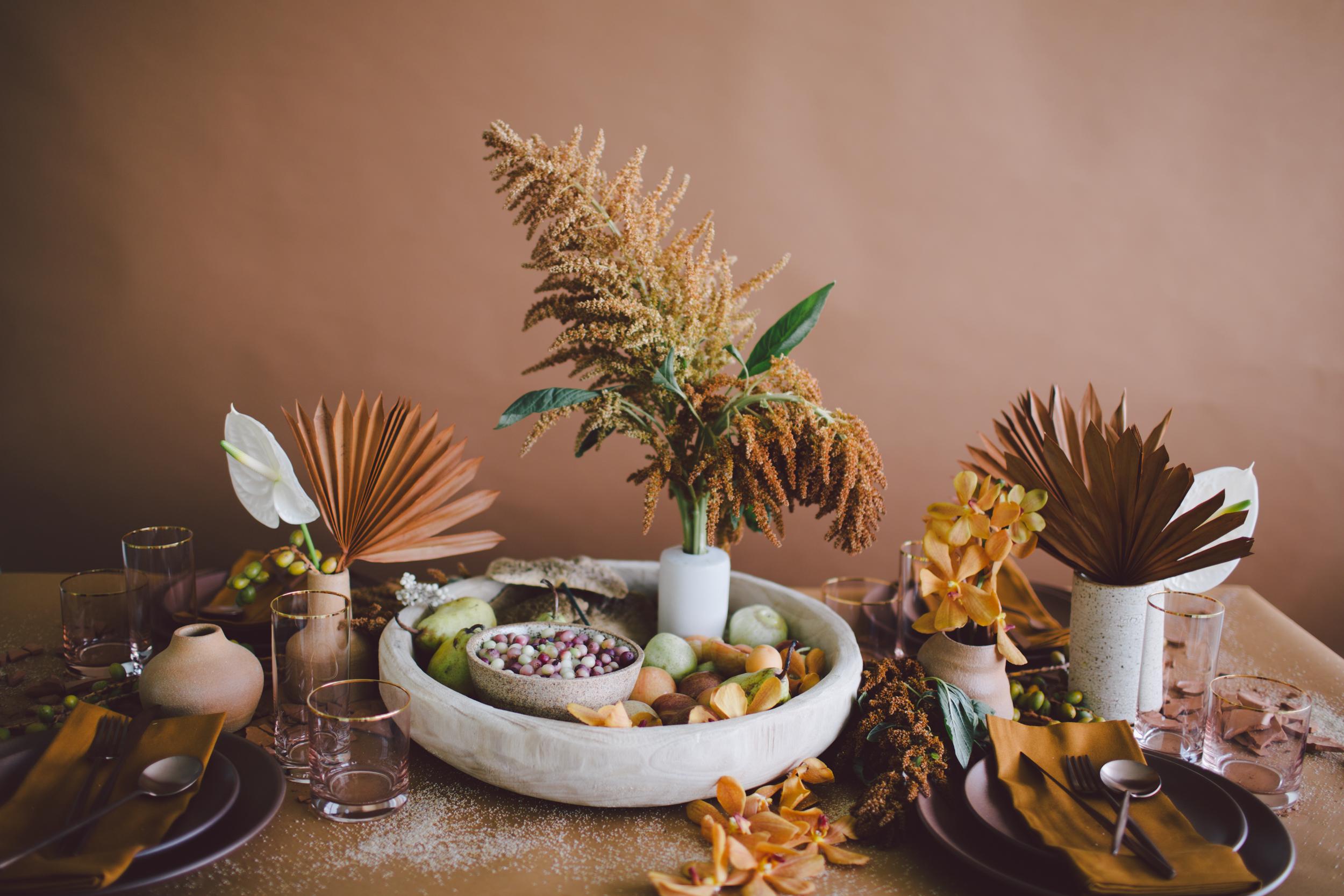 dried florals table casa de perrin sienna modern bohemian free spirit