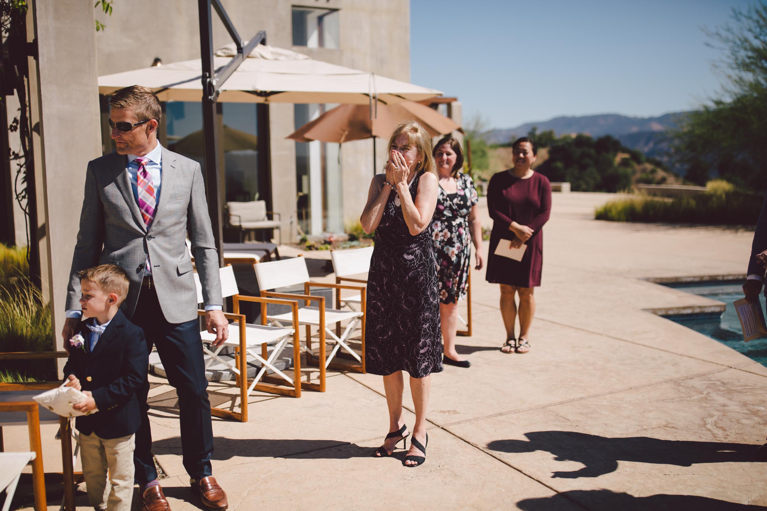 ojai intimate wedding ceremony private estate outdoors