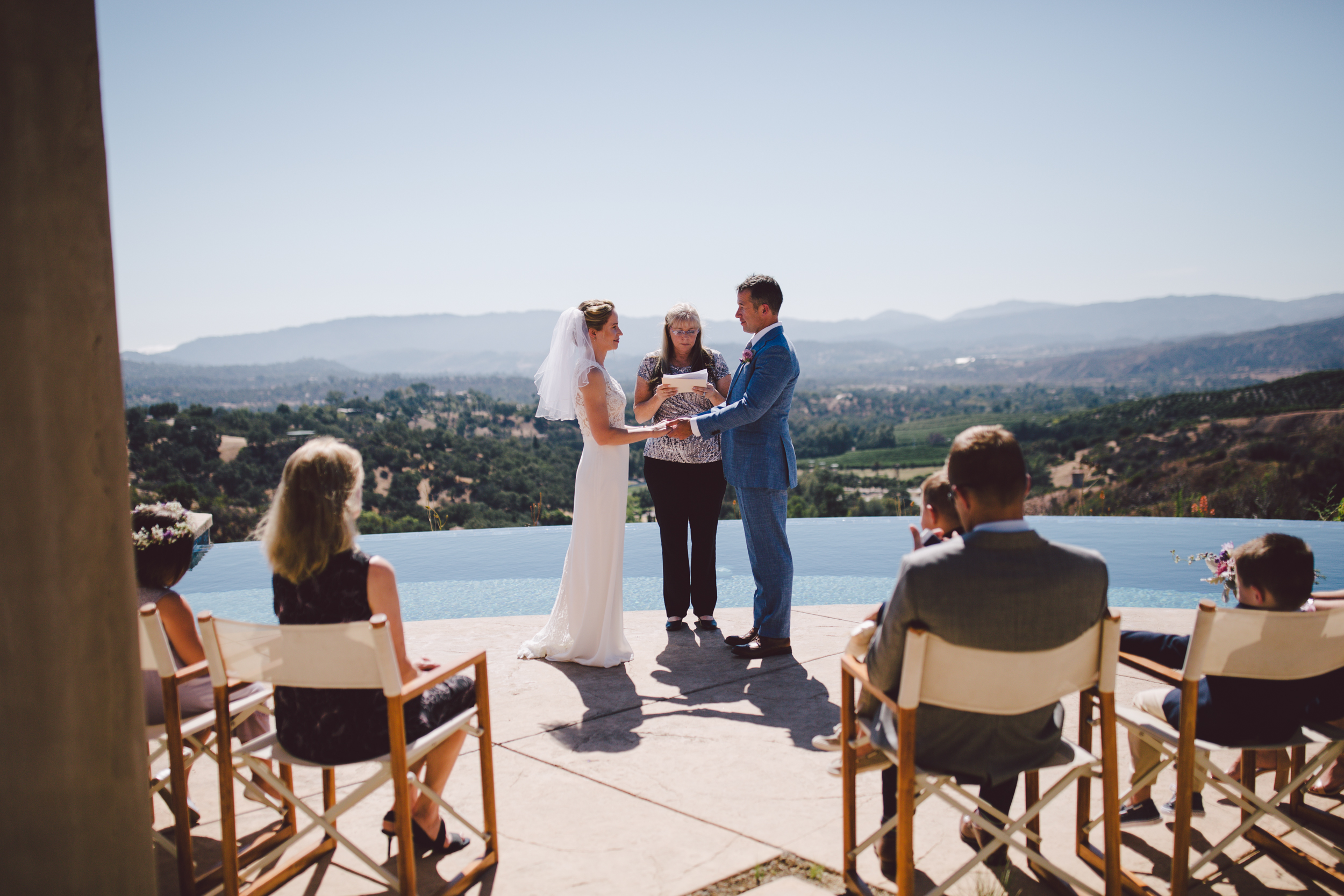 outdoor intimate wedding private house ojai california