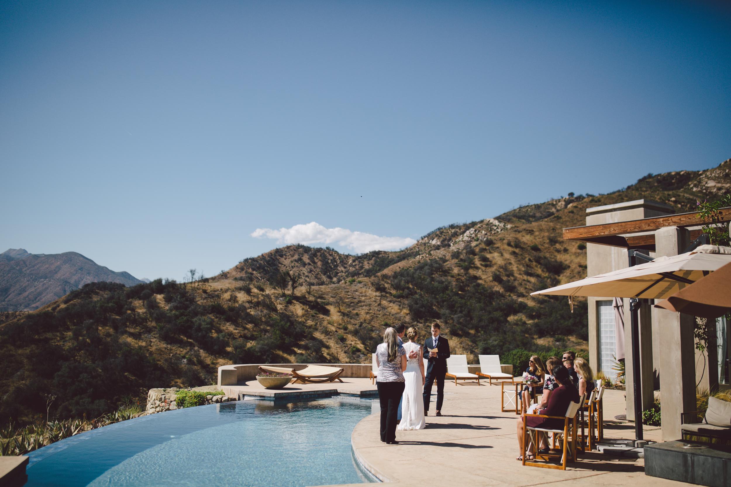 ojai california private estate intimate elopement outdoors mountains