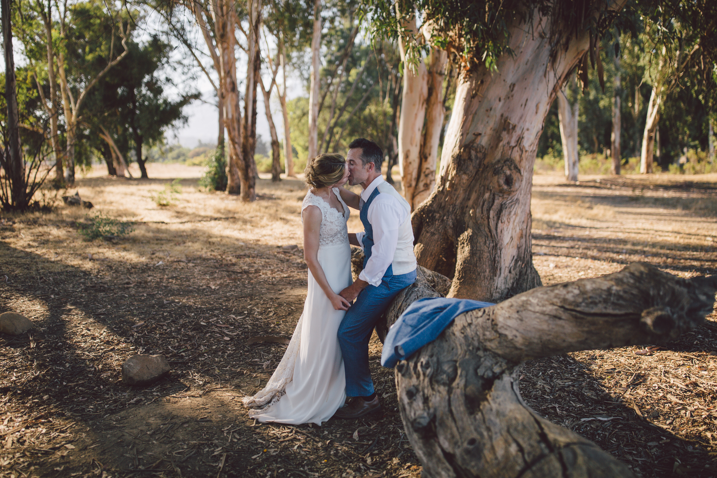 ojai elopement sunset mountain outdoor wedding