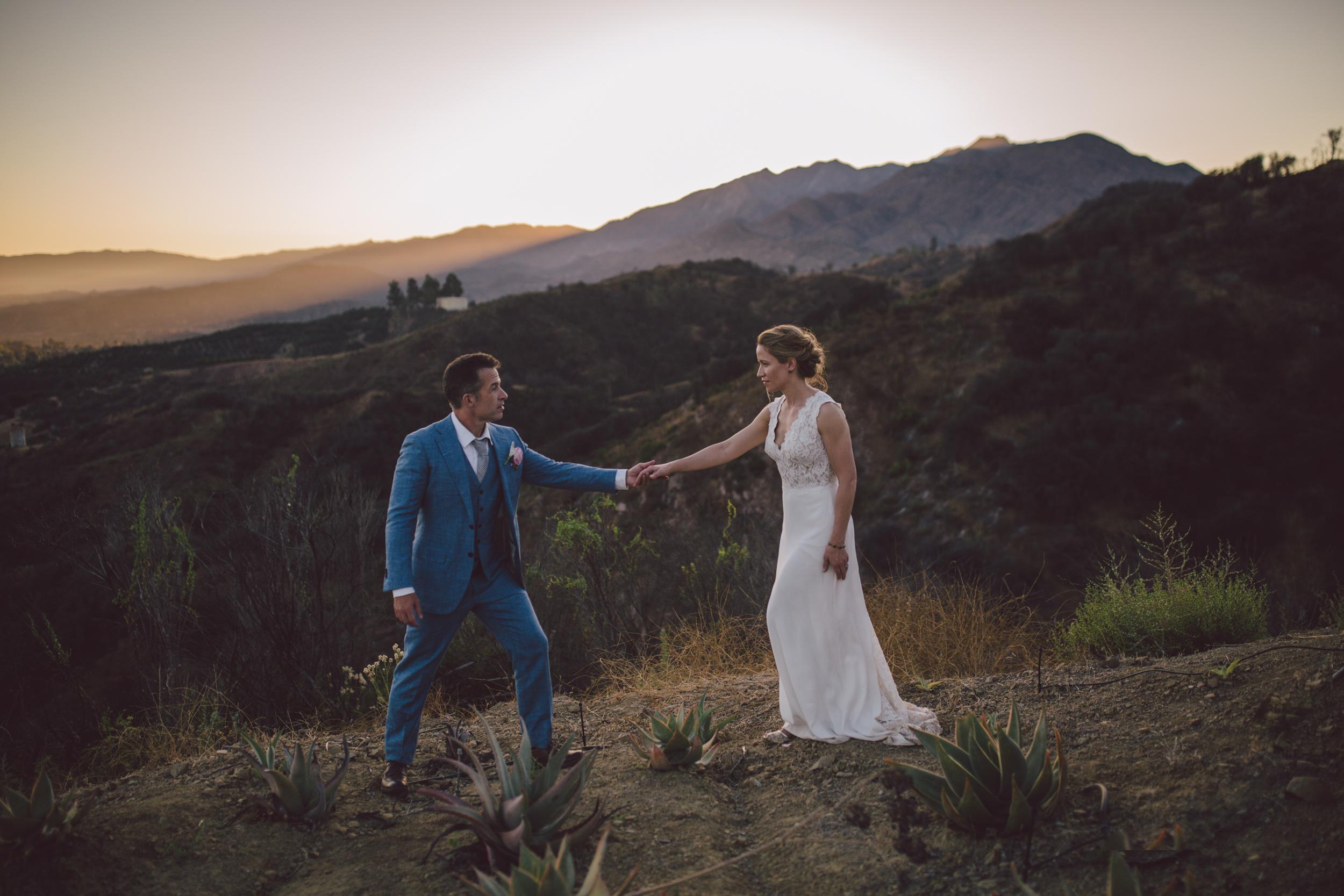 ojai mountain wedding elopement sunset