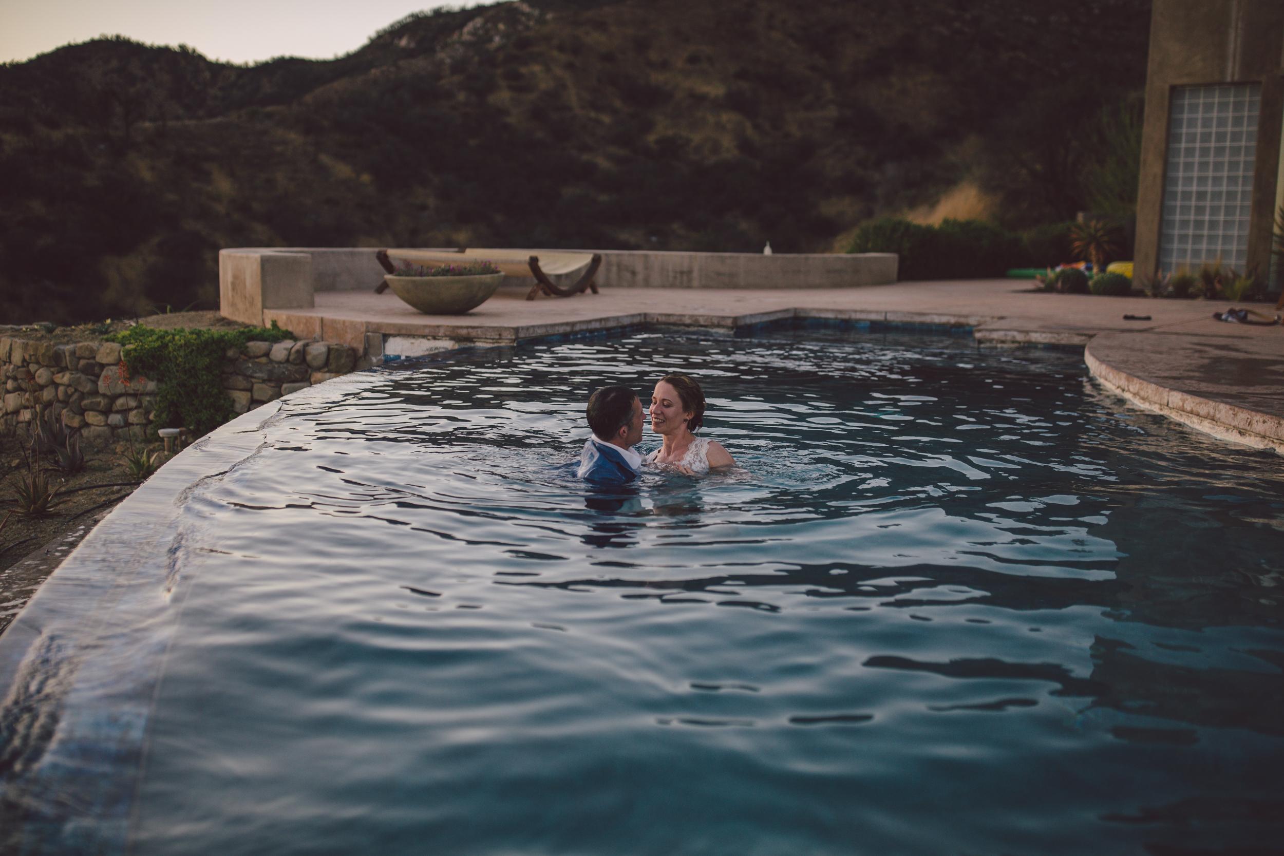 ojai elopement wedding mountain pool