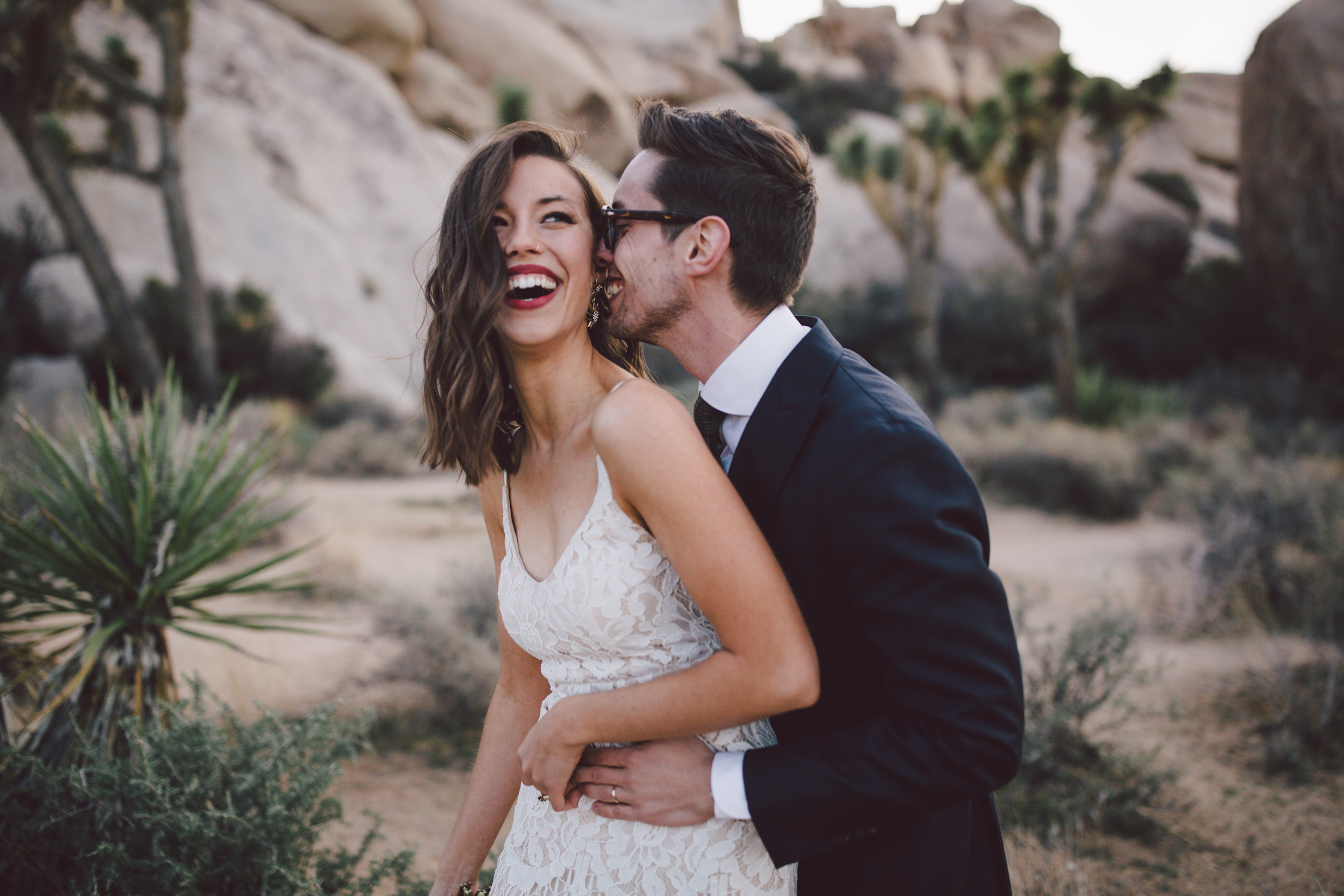 christian couple cap rock joshua tree emotional intimate elopement