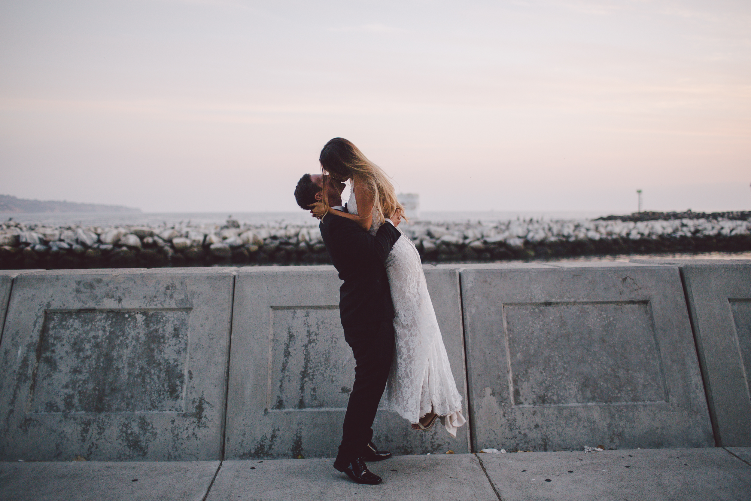 bohemian california los angeles elopement sunset beach