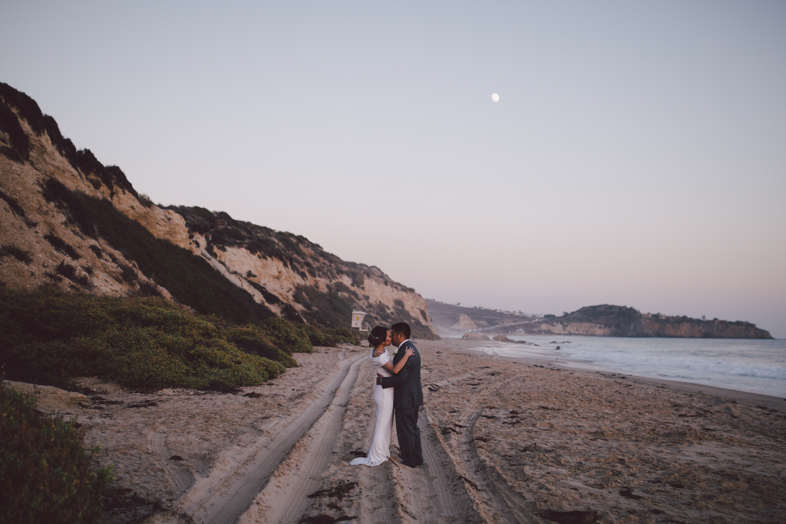 laguna beach crystal cove elopement bohemian court house wedding