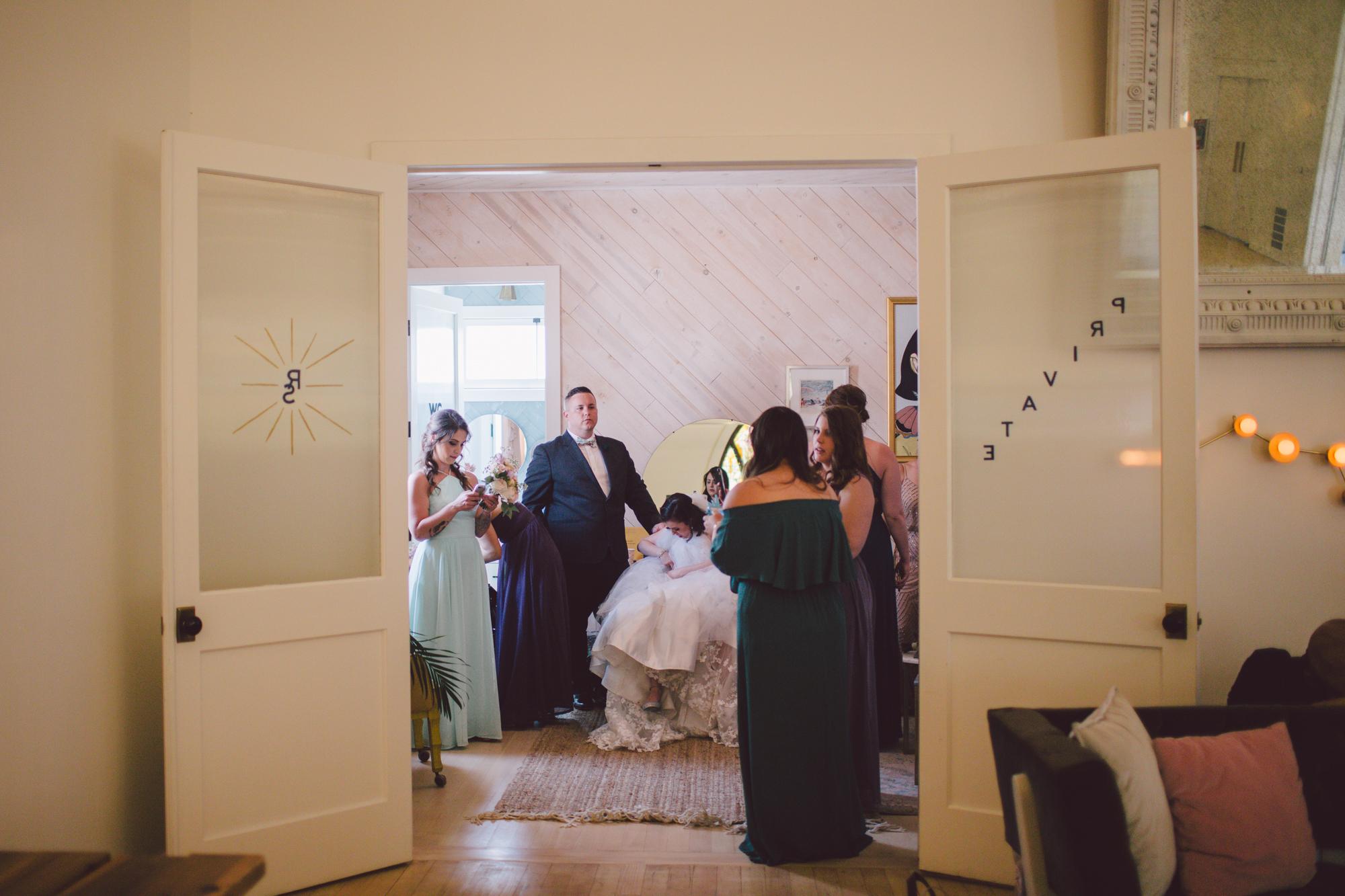 bridal party-los angeles-ruby street-wedding venue