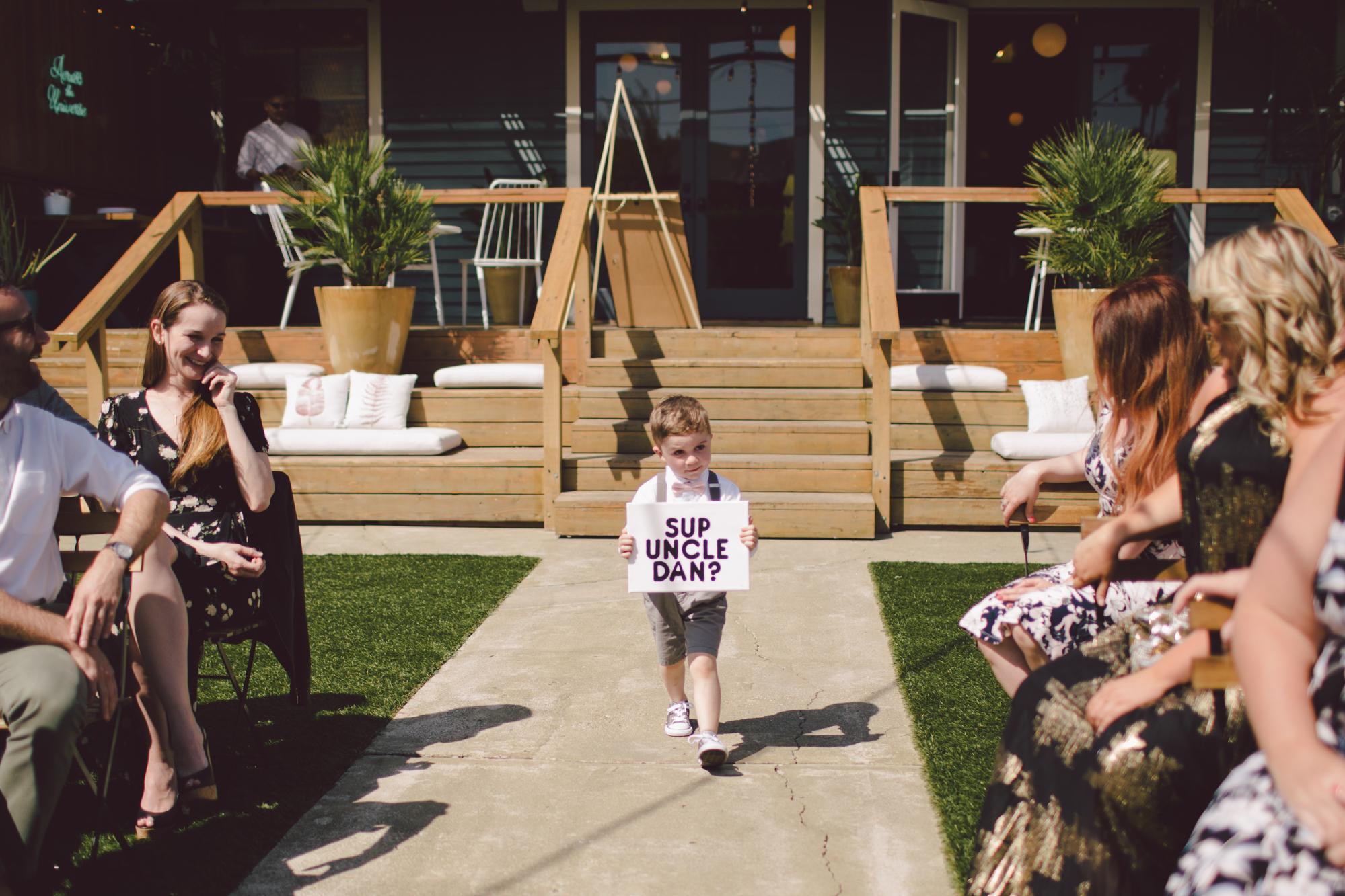 flower child-los angles-stylish venue-wedding-outdoor ceremony
