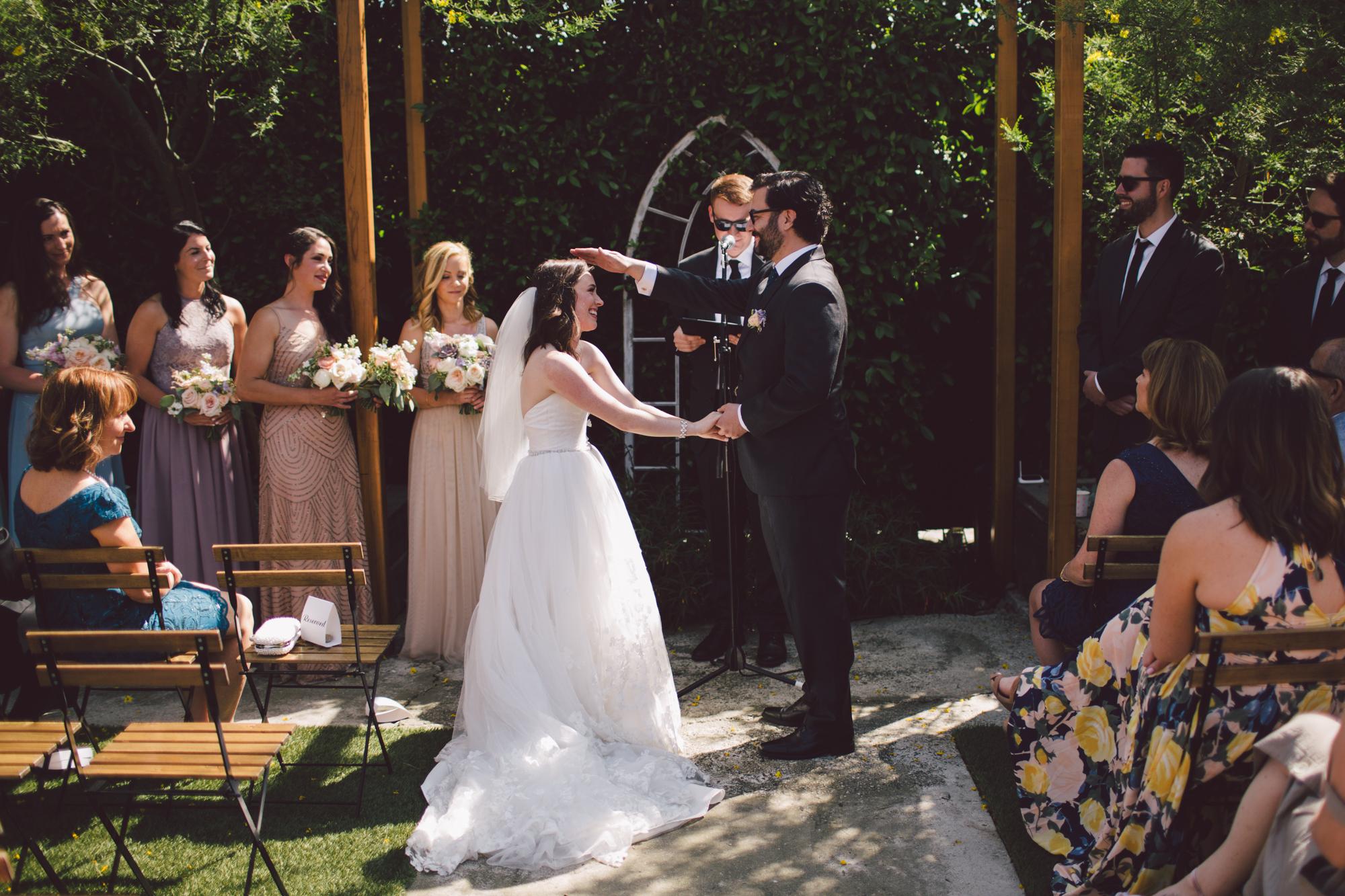 highland park-outdoor ceremony-los angeles-cool wedding venue-vows