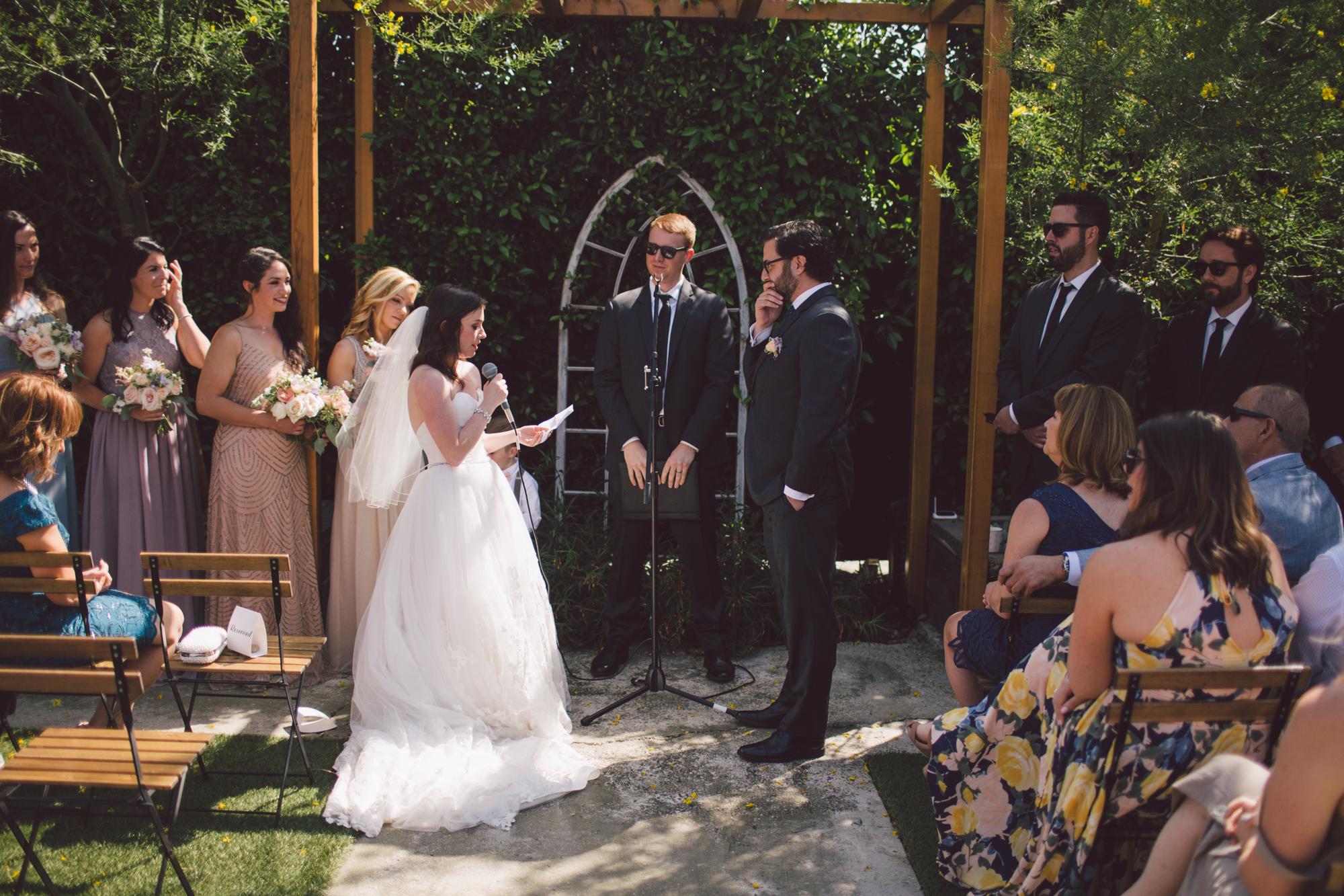 outdoor ceremony-los angeles-cool wedding venue-stylish bride