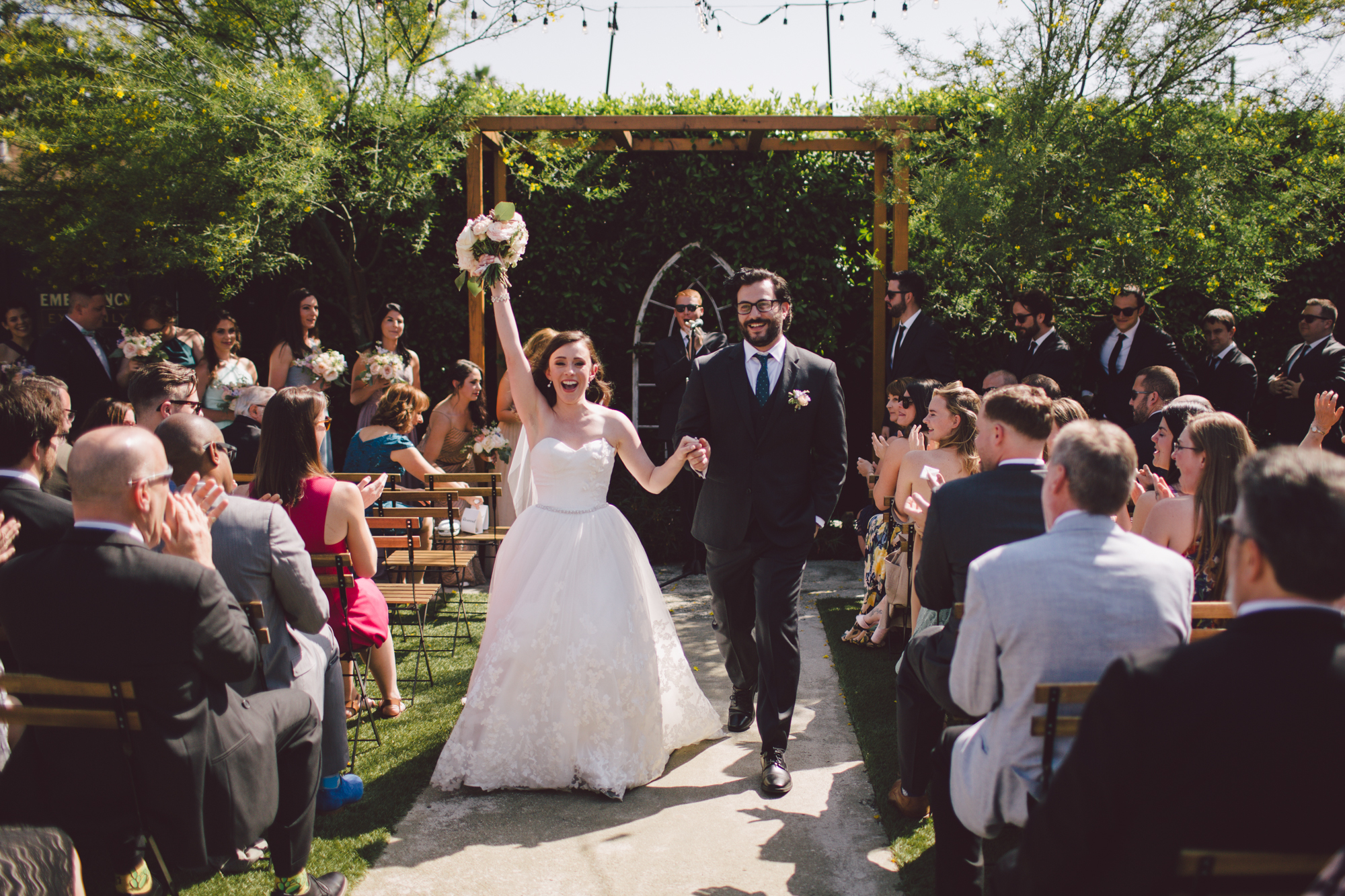best wedding venue-los angeles-ceremony-hipster-the ruby street-outdoor