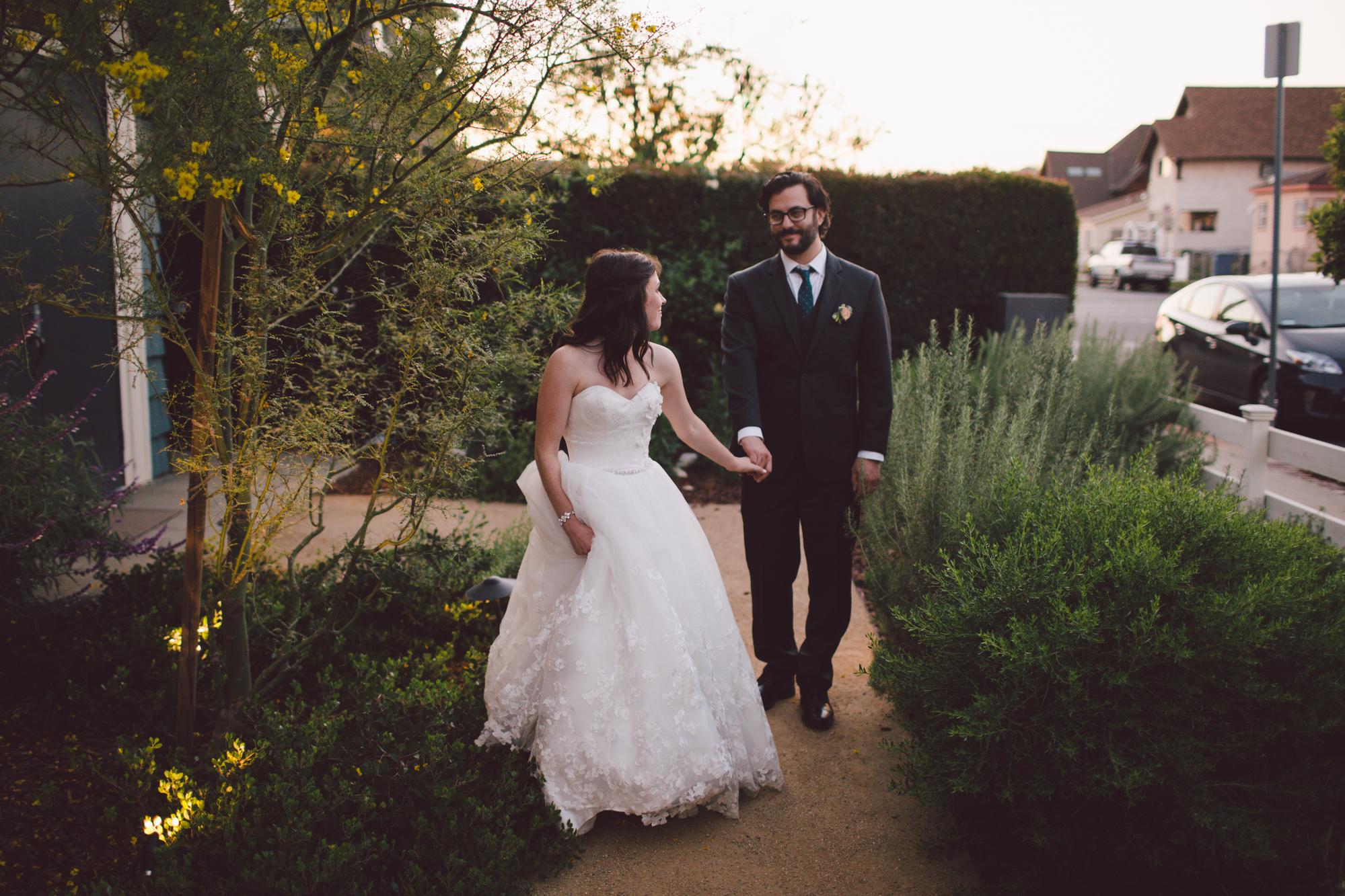 portrait-bride-groom-ruby street-wedding venue-los angeles-california-eclectic-cool-outdoor-hip