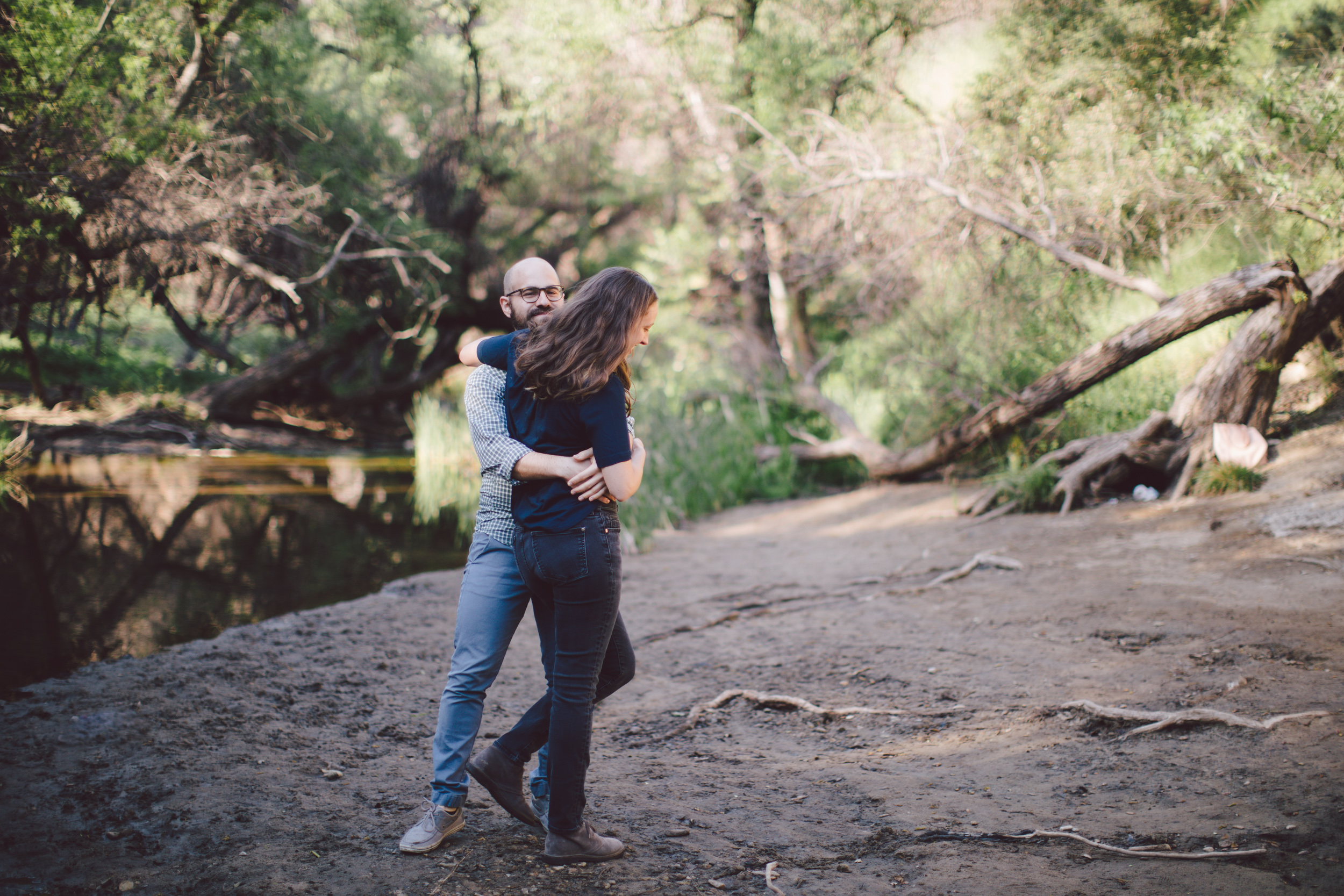 malibu california engagement adventure session
