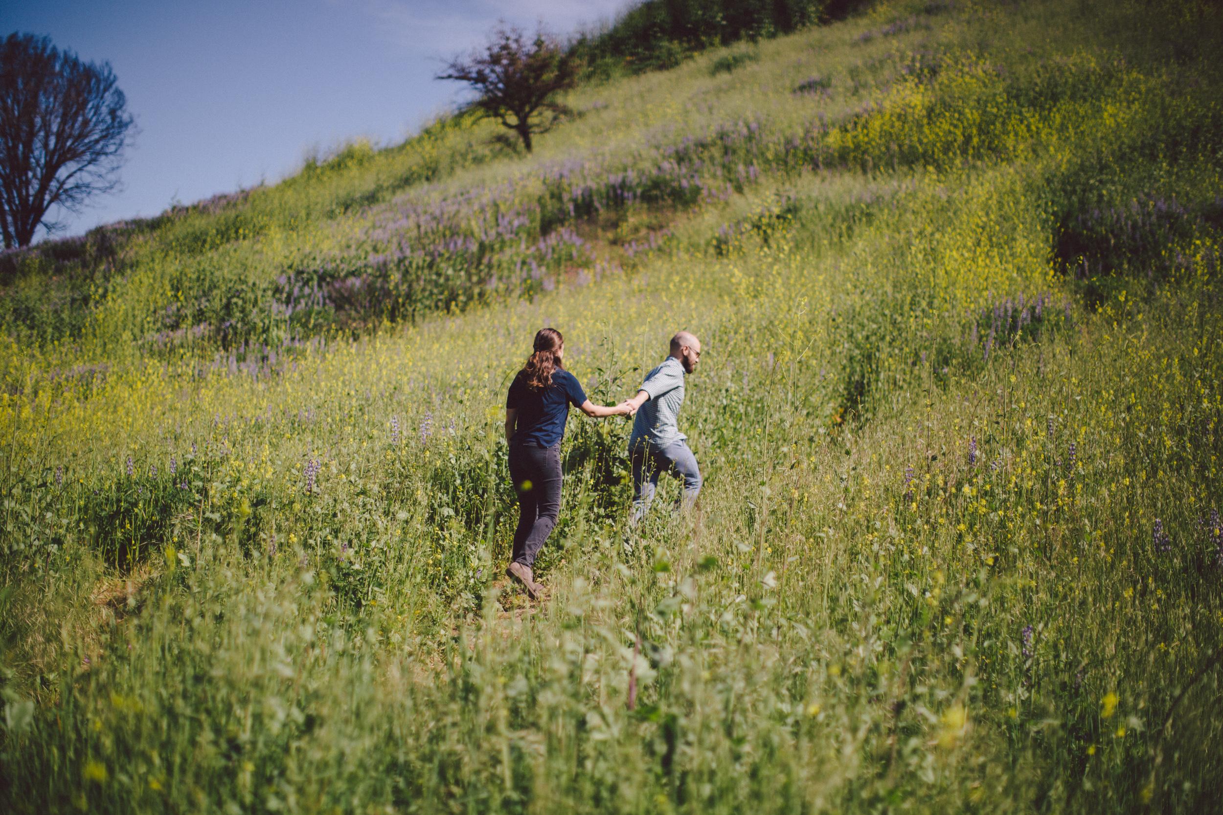 sunny intimate engagement session malibu california