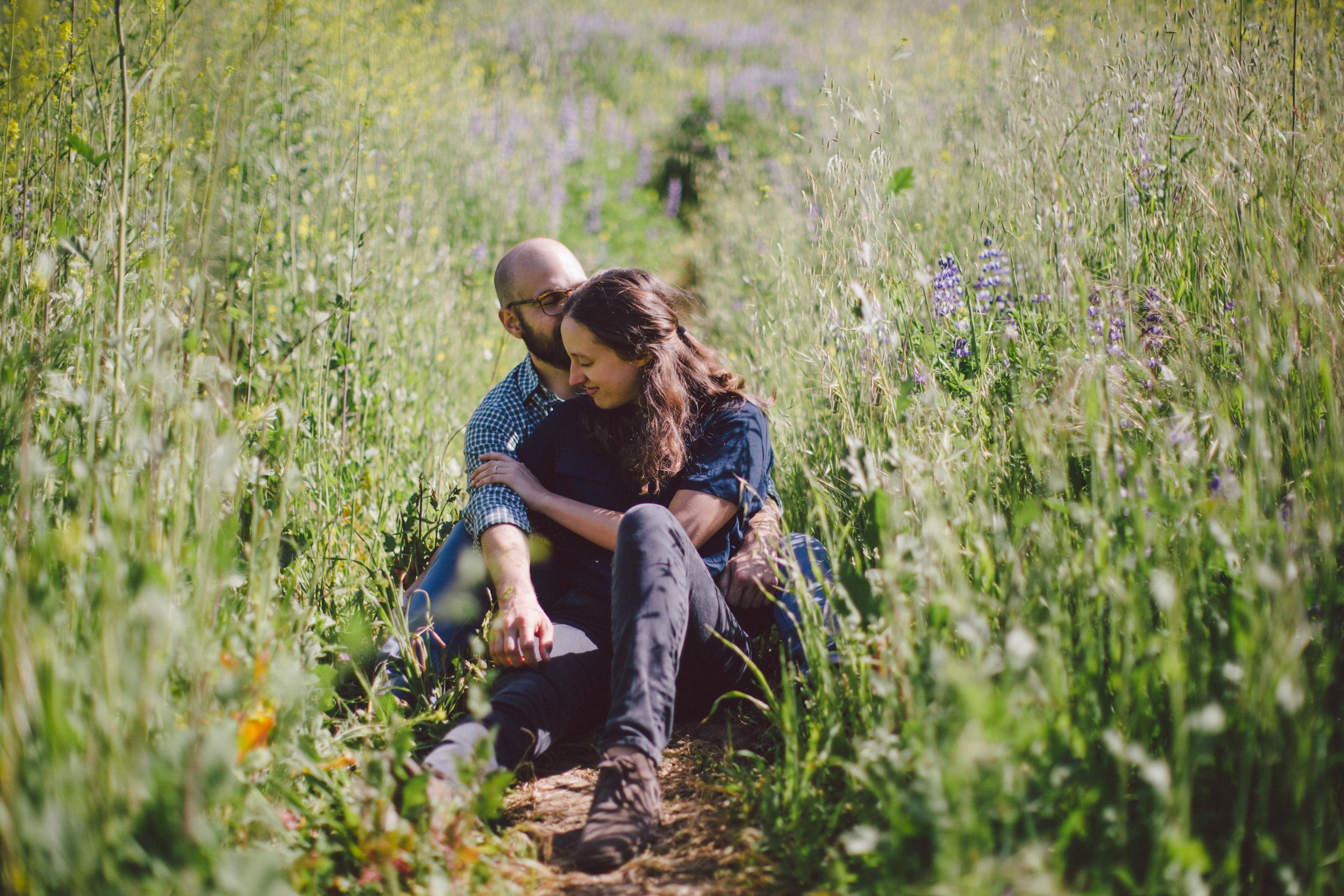 malibu california flower field super bloom canyon engagement