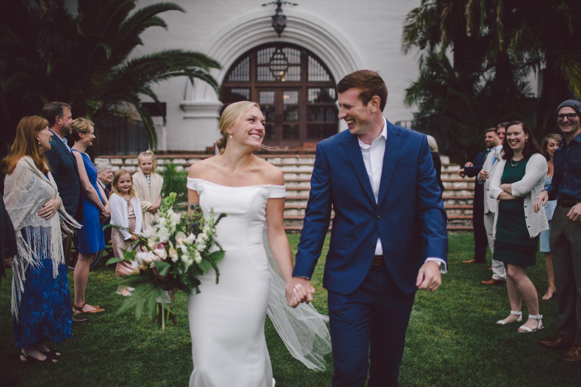 Katie +Paul - Santa Barbara courthouse elopement