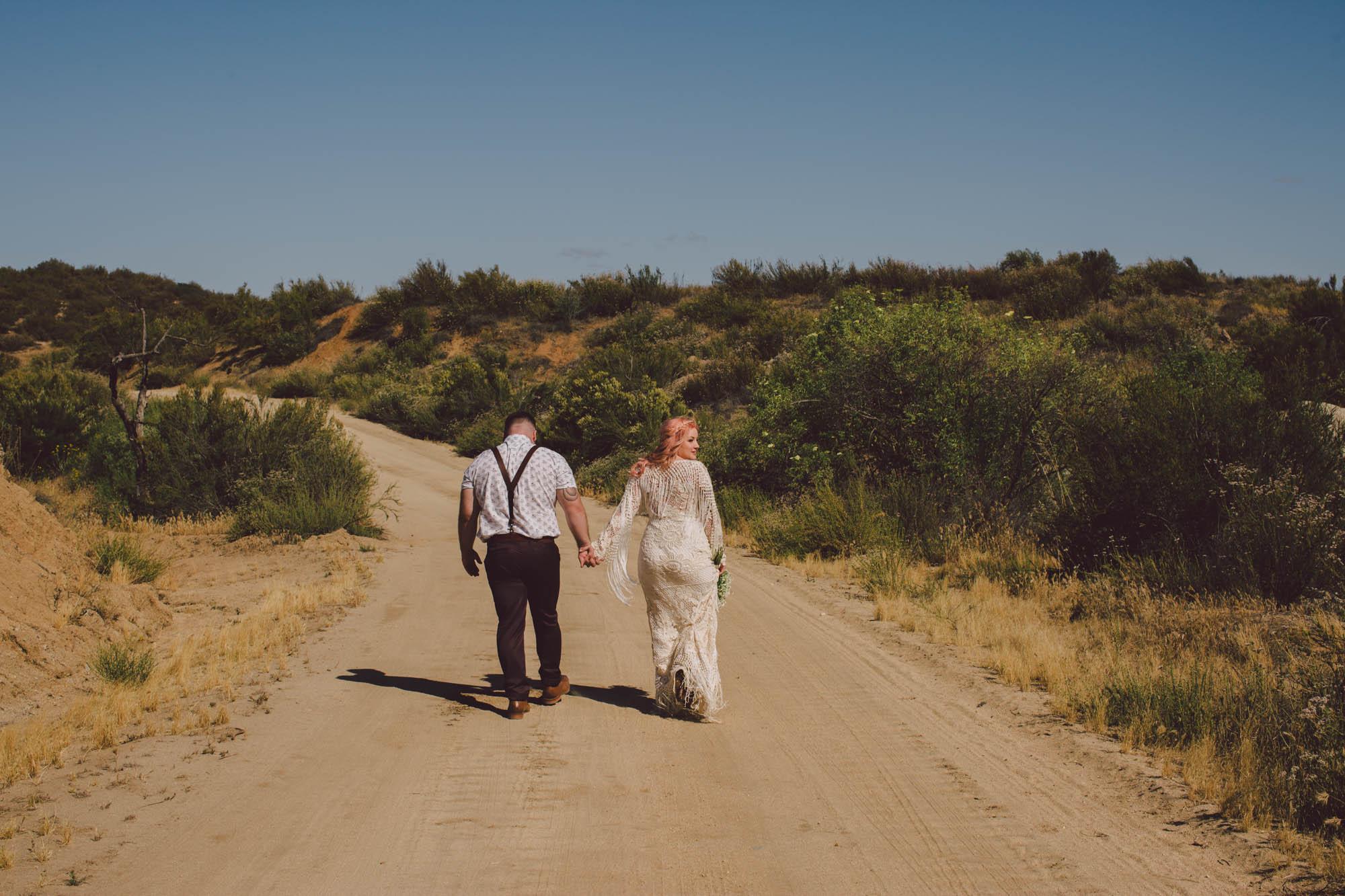 Shannon + Sean - wolf feather honey farm, california bohemian intimate wedding