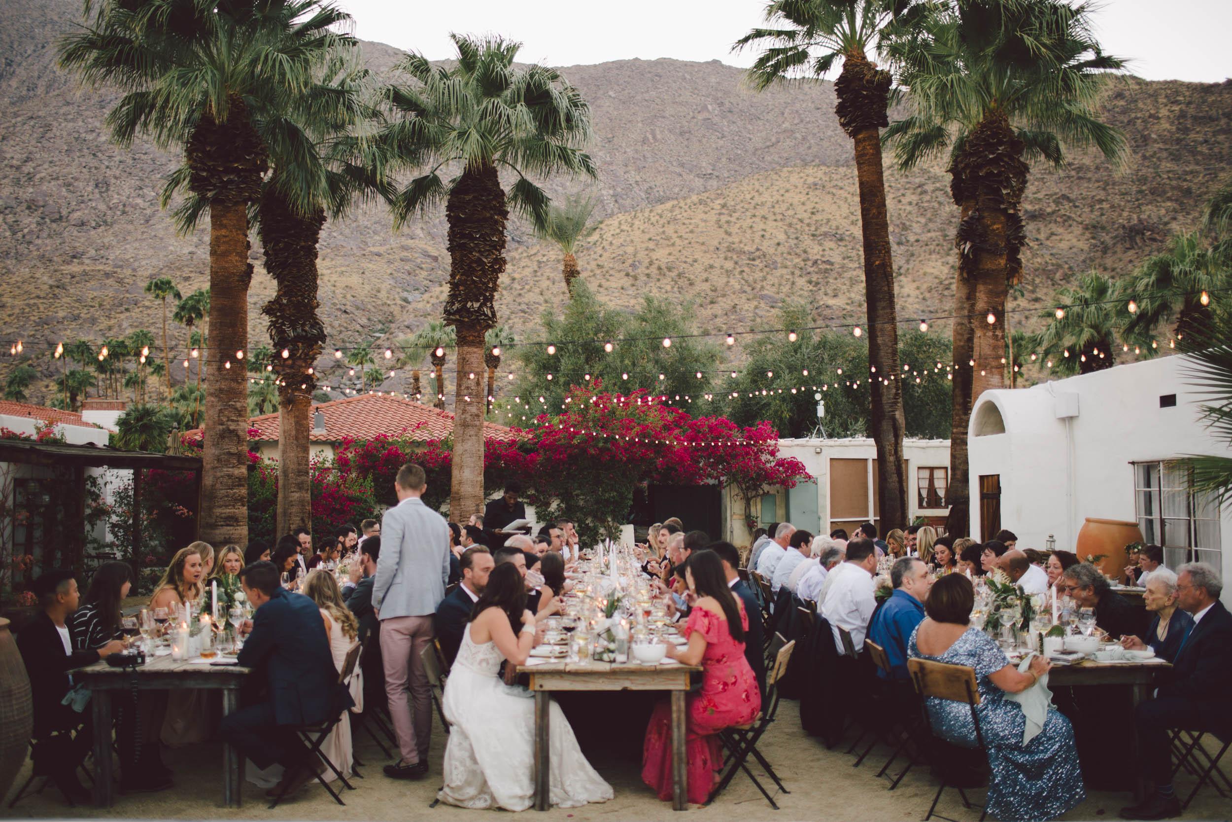 Annie + Ken - Korakia pensione palm springs, california intimate wedding