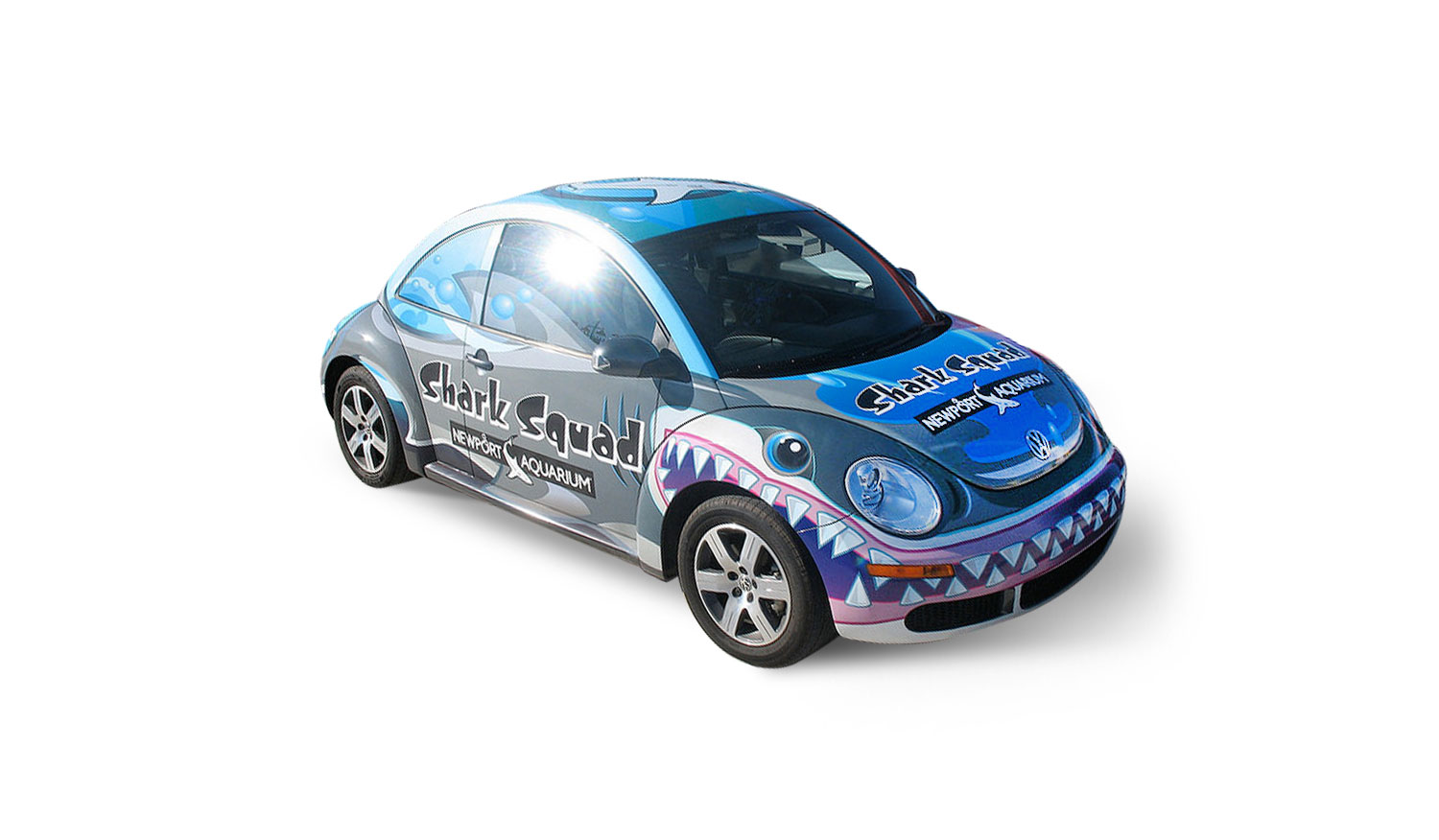 Newport Aquarium Shark Squad car