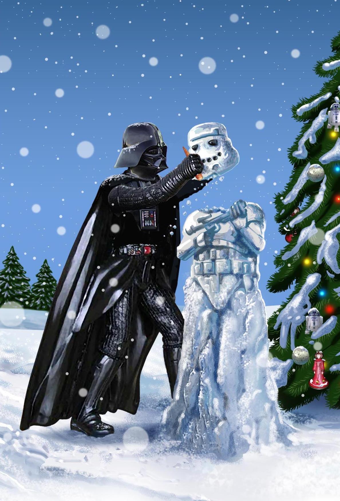 darth making snowman.jpg