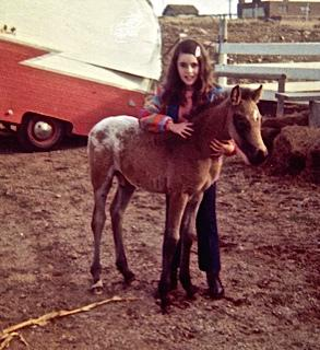 Me and my horse Smokey, age 9