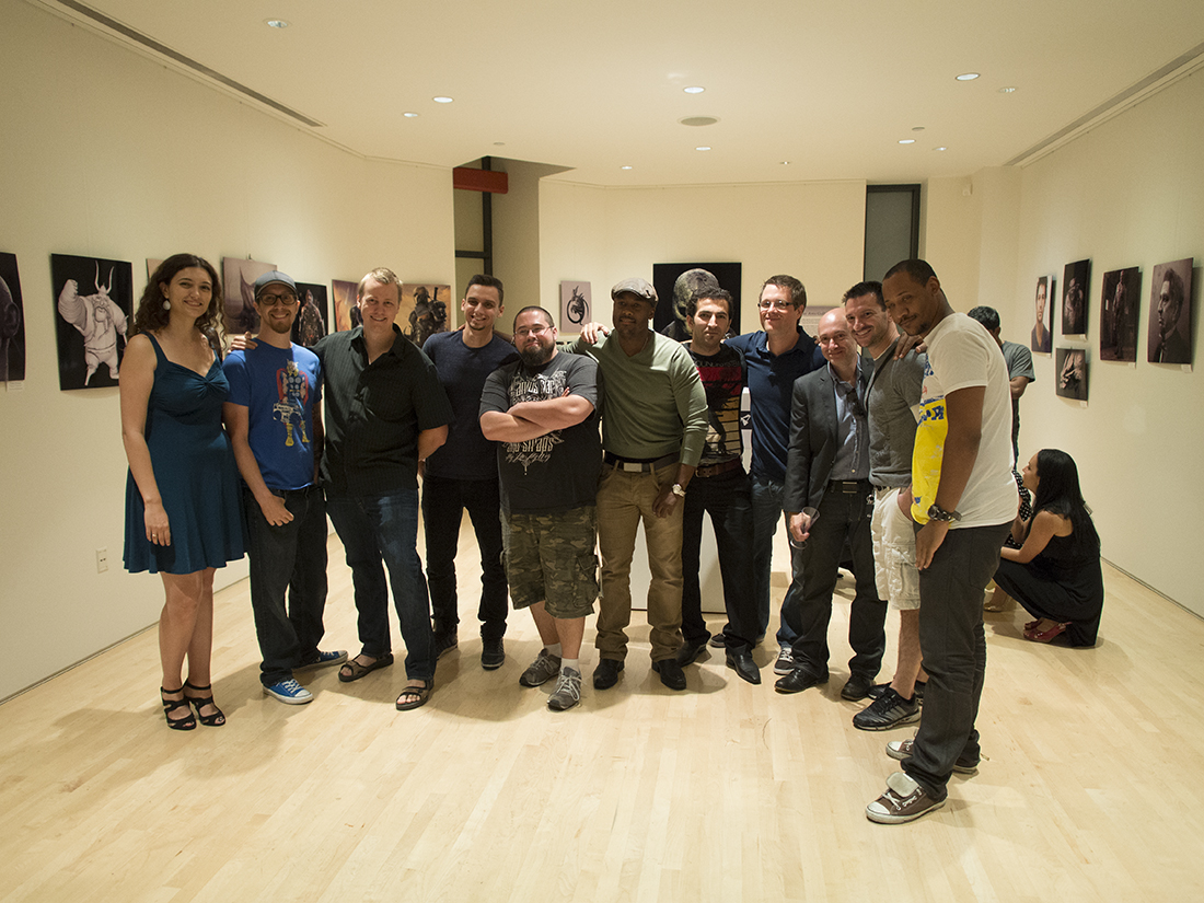 The staff and talented Character Artists pose for a group photo.