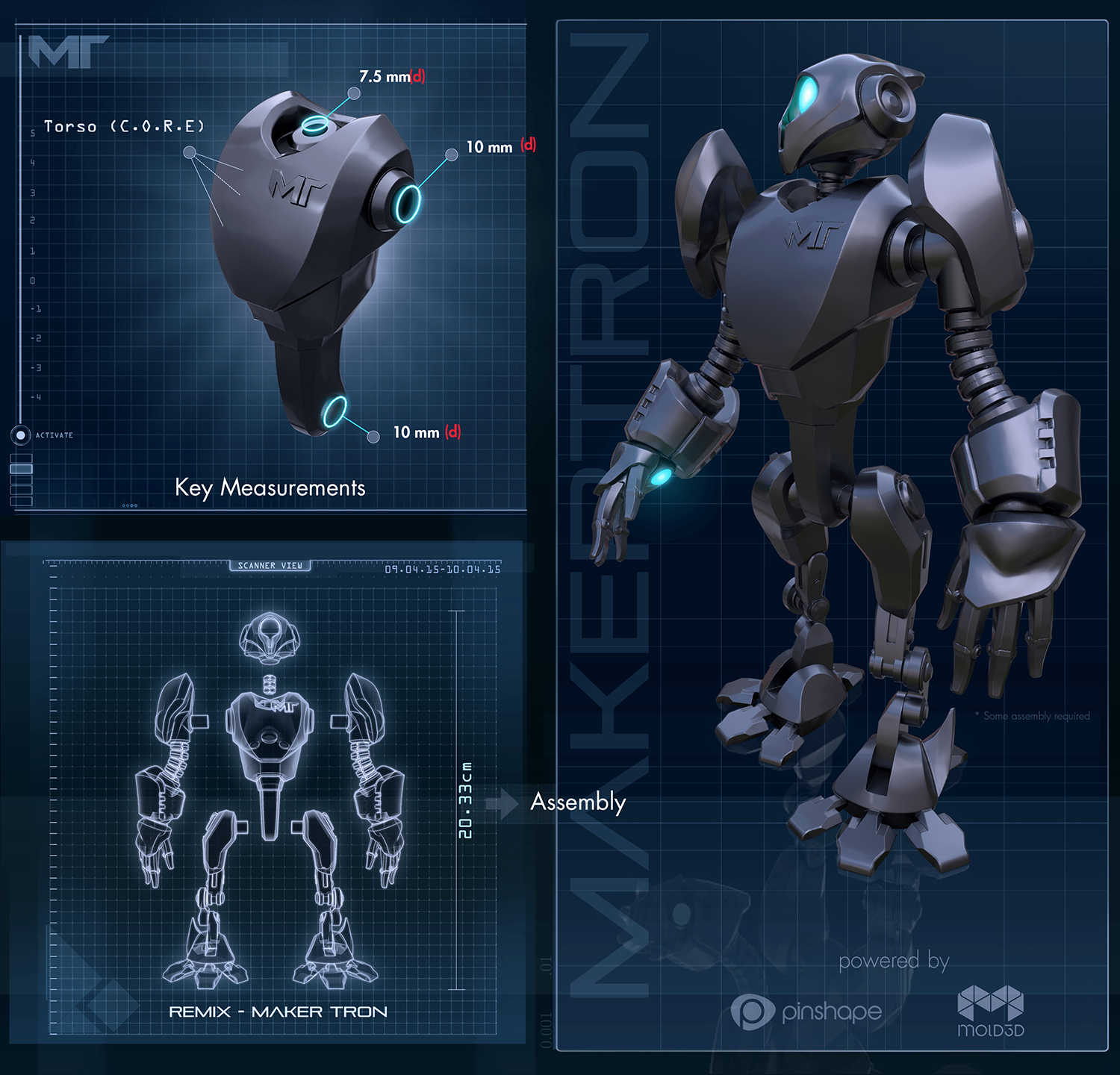 Robot design by Andres Parada. 3D model and illustration by Mold3D.