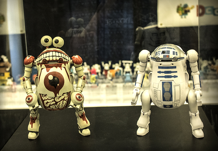 You can't have a designer toy expo without running into some kind of Star Wars mashup.