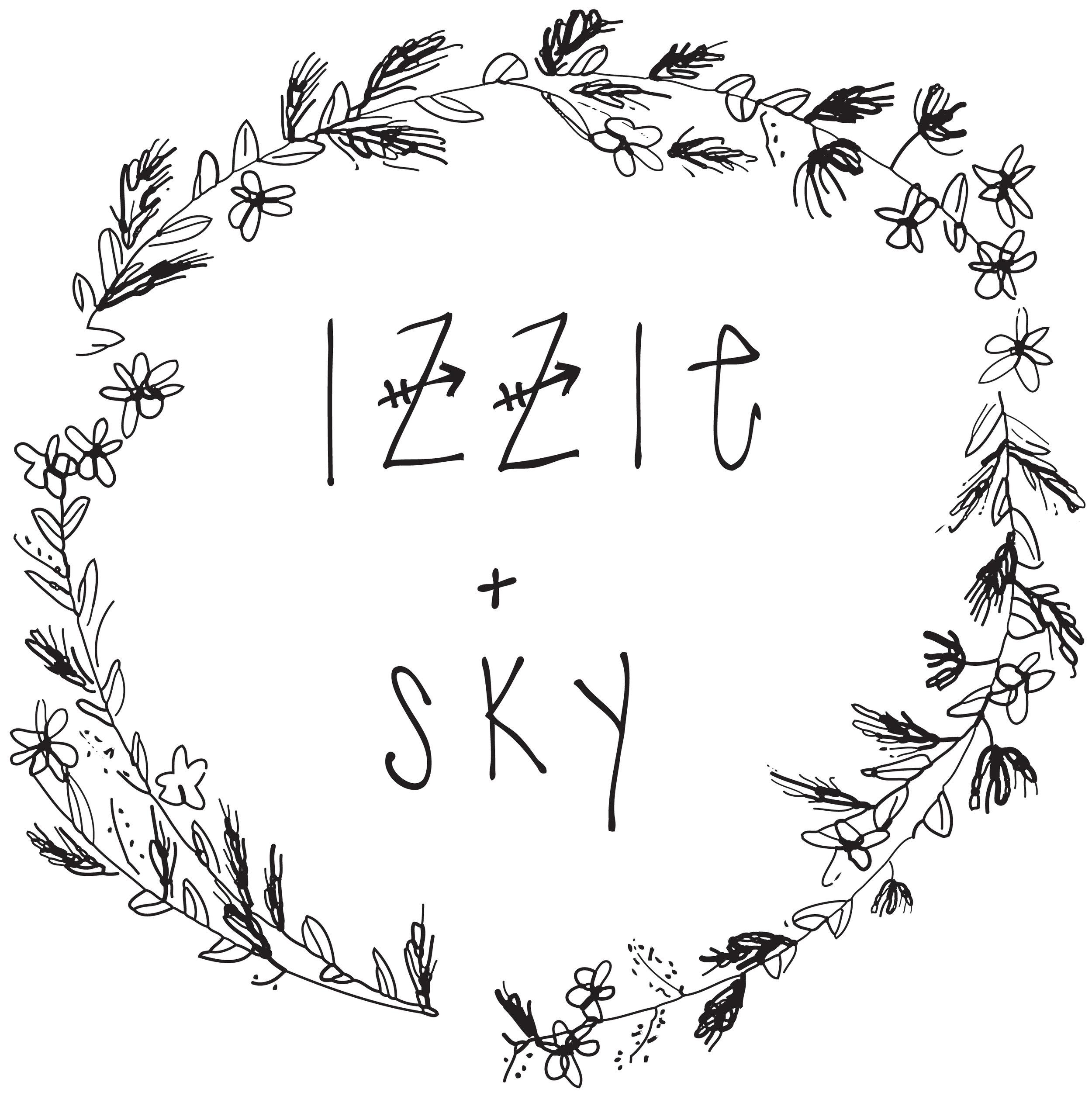 Click our logo to view Izzie + Sky Magazine.