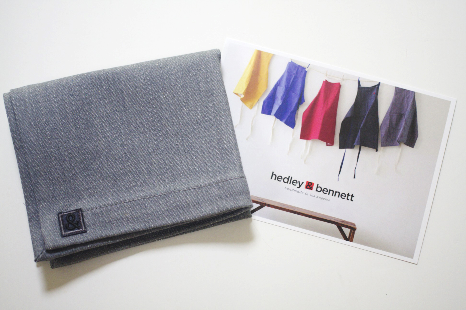 Hedley & Bennett  gave linen napkins from their beautiful Homewares collection.