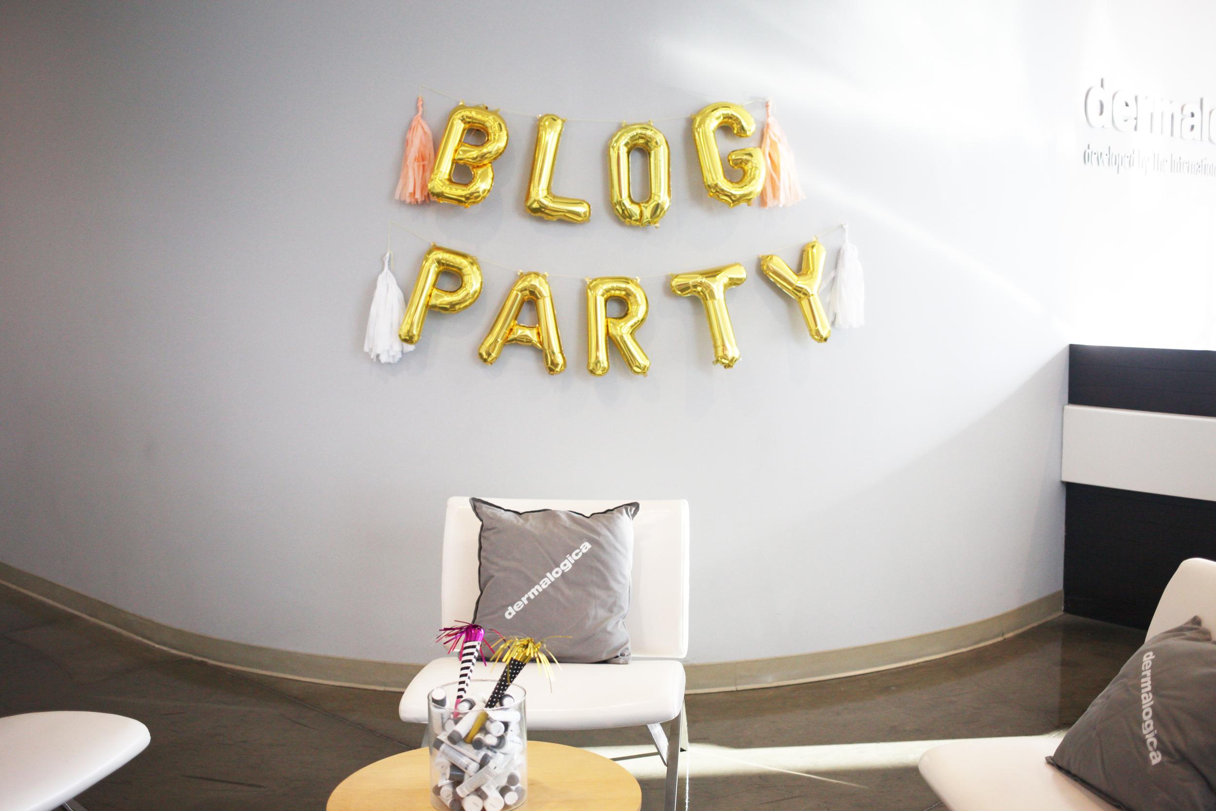 Blog PartyxDermalogica
