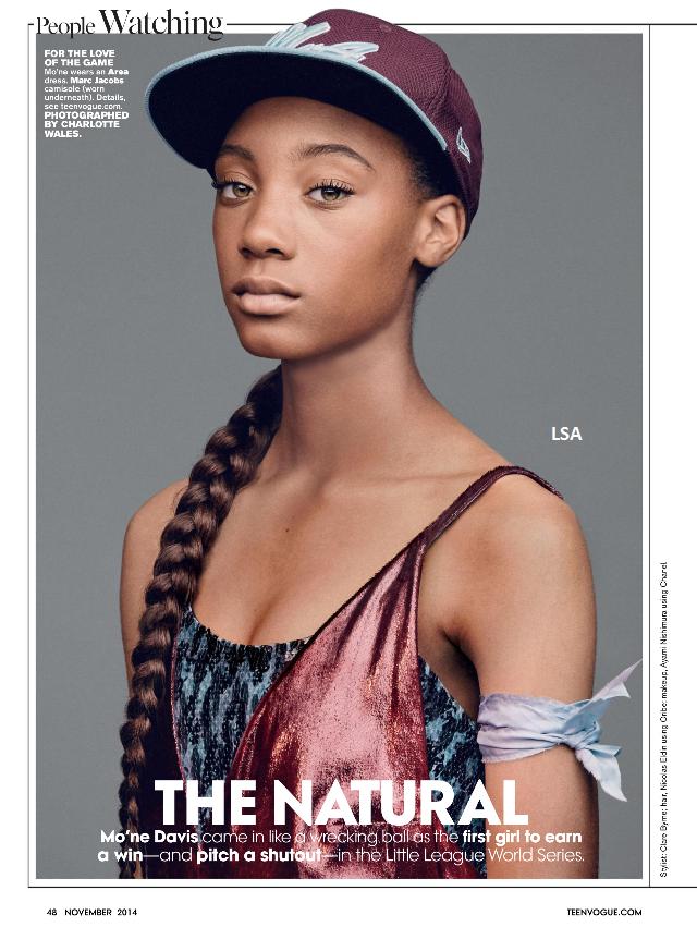 Teenage sports star Mo'ne Davis from Philadelphia, PA