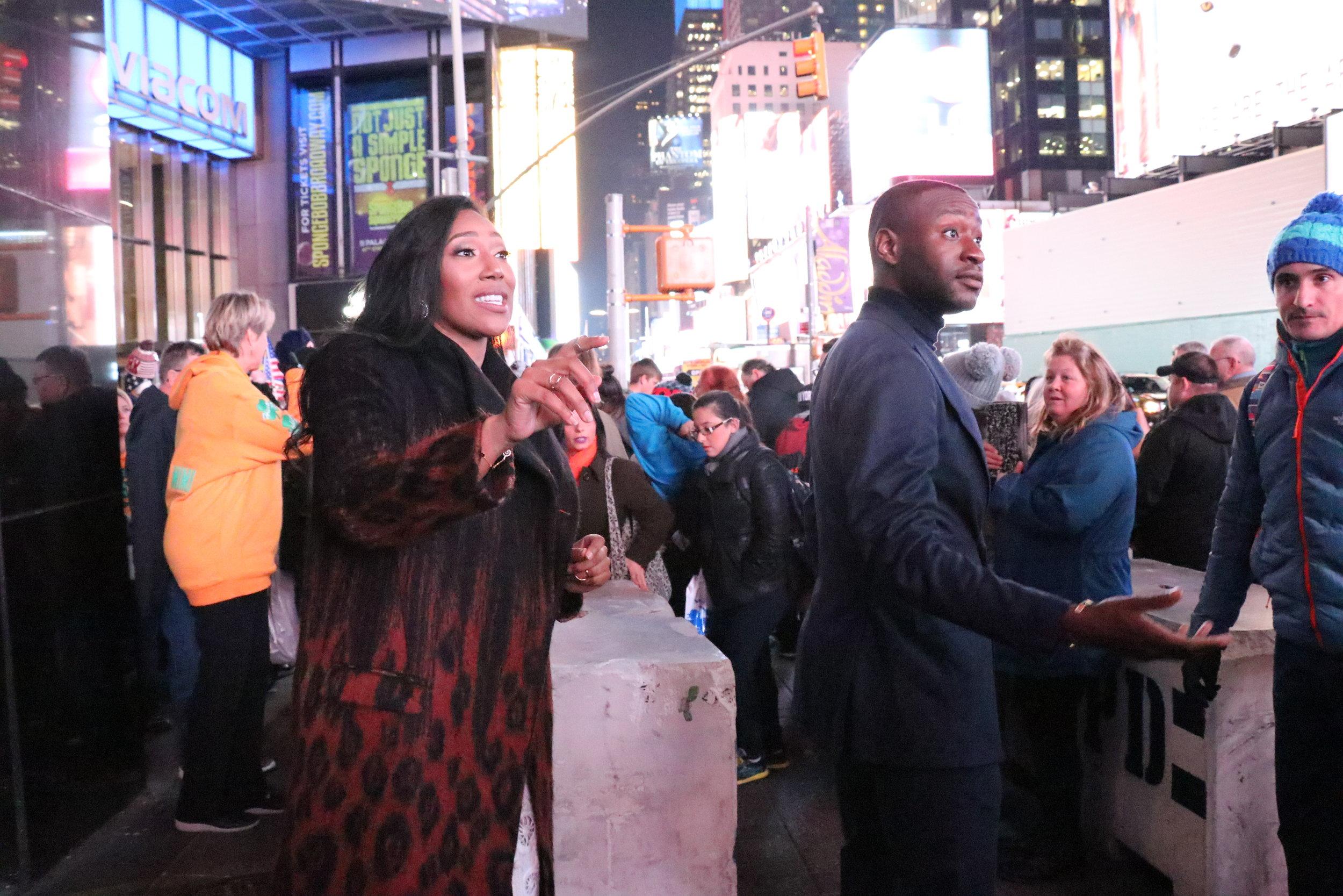 Guerilla marketing in Times Square