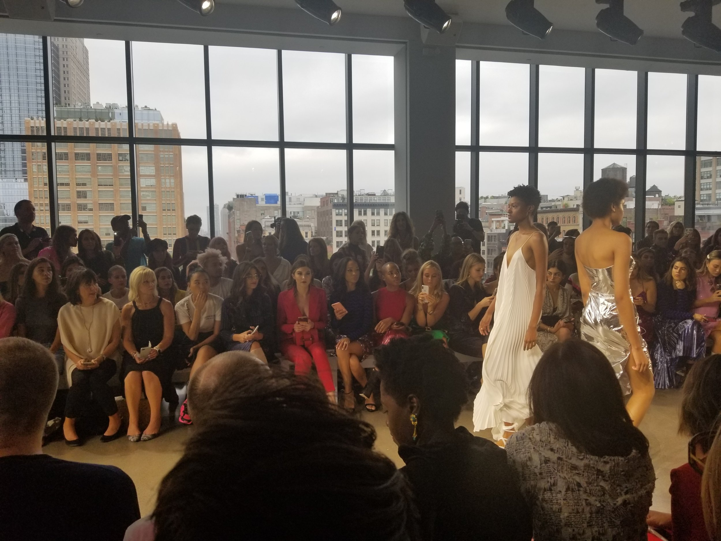 Front Row at Milly Show
