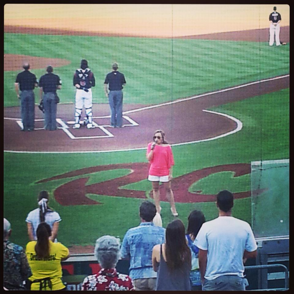 National Anthem at the River Cats!