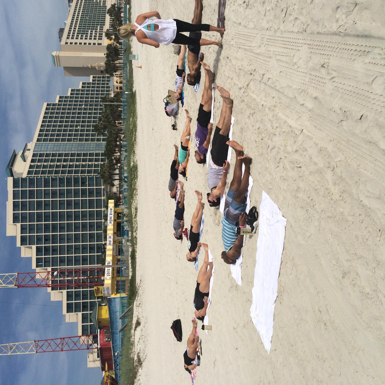 SUBU does Yoga on the beach!