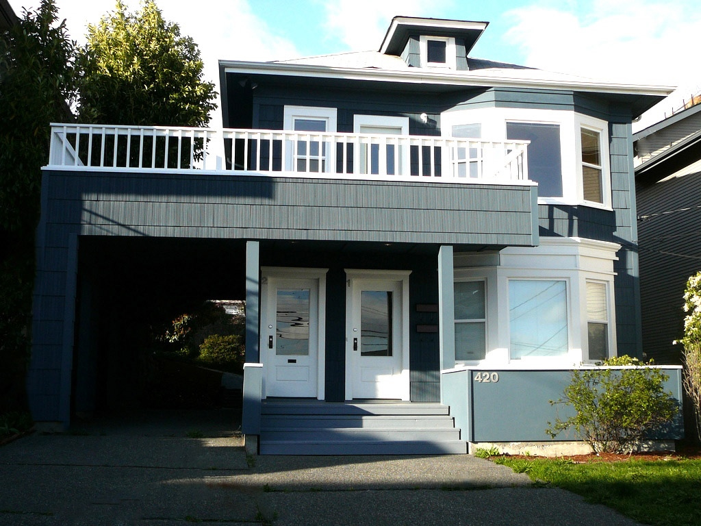 This is a Seattle Duplex that could be a co-op ownership opportunity for two families.