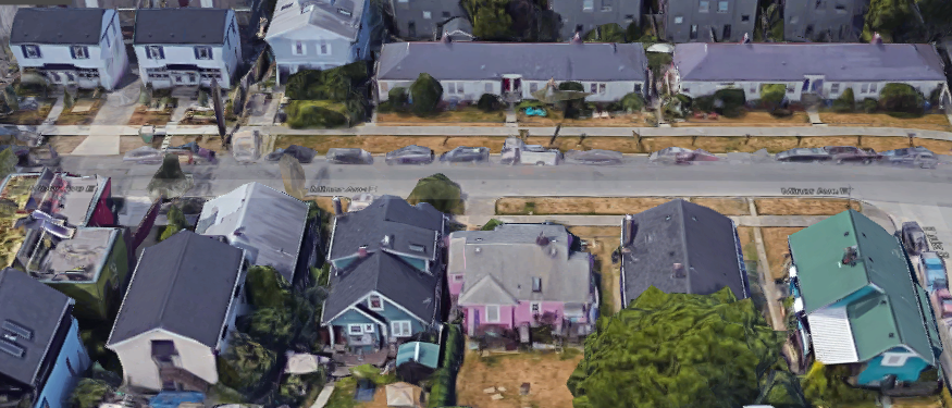 Small apartments  and detached single-family homes - living together in harmony; illegal in mots of Seattle
