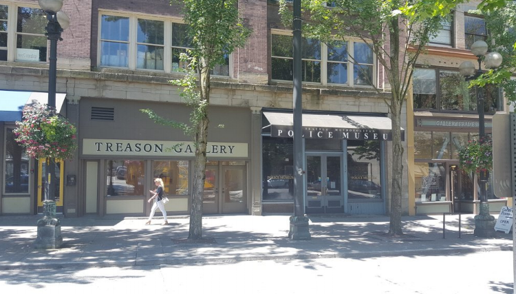 Treason Gallery next to Seattle Metropolitan Police Museum is just...I am so fascinated by these being next door to each other.