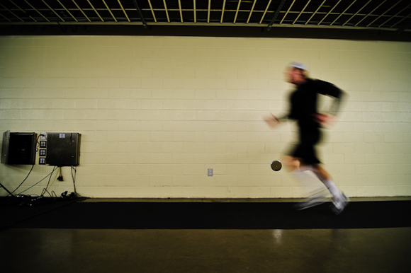 Karlis' going through is pre-game warm-up at American Airlines Center, in Dallas, TX.