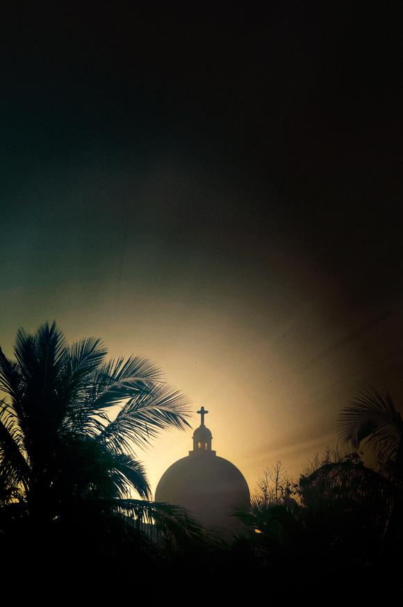 The sunrises over Iglesia de Jesus de Miramar, Havana, Cuba, 2013