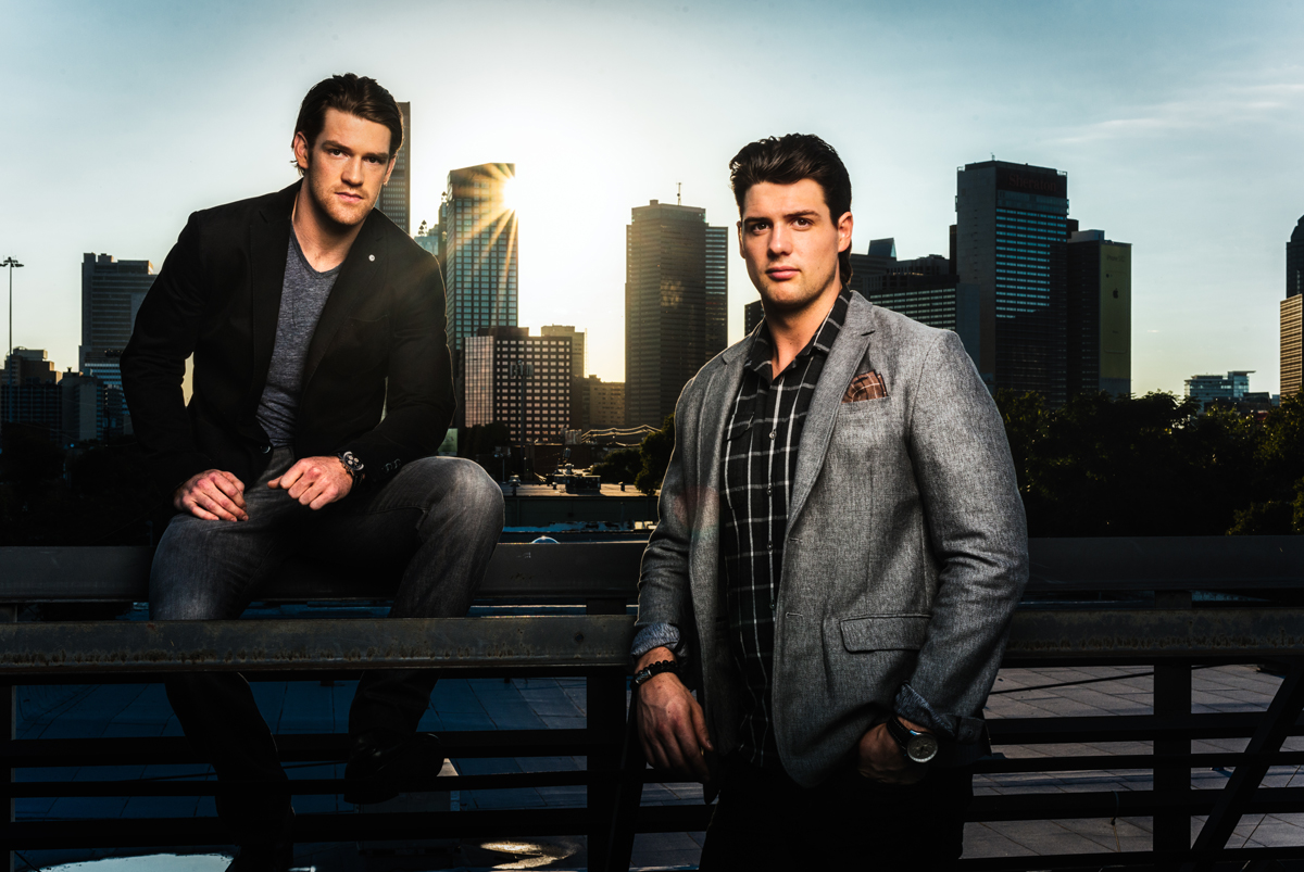 Jamie & his brother Jordie Benn, for the Dallas Stars Foundation