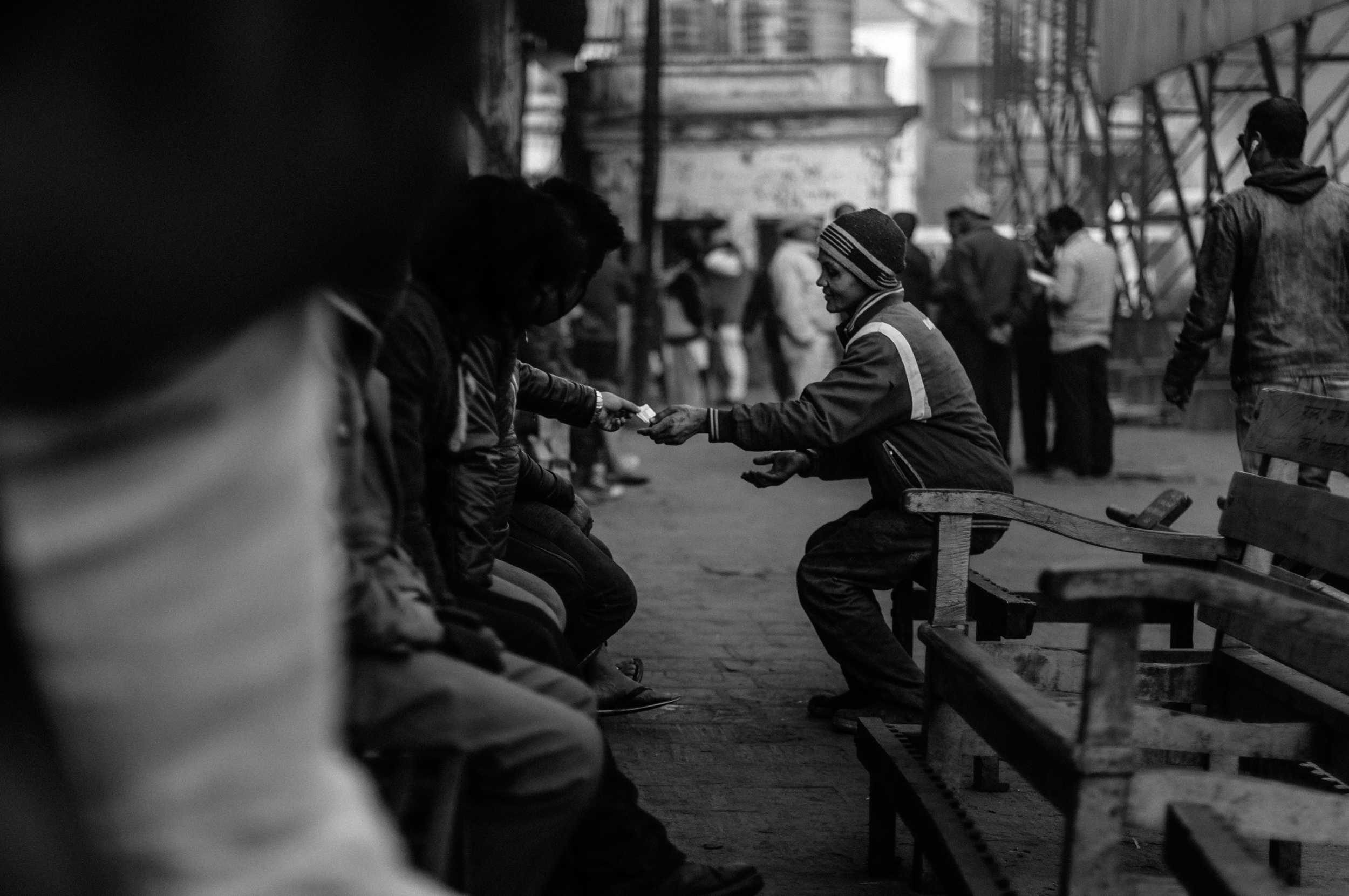 In the event that more wood is needed to finish the cremation, temple workers collect money from the family to pay for the additional materials.