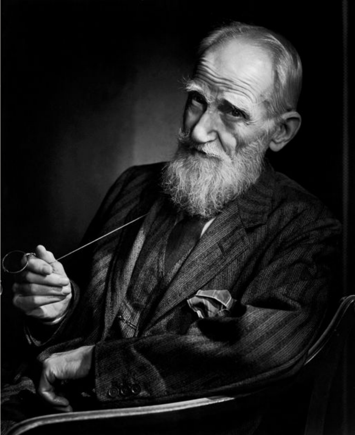 George Bernard Shaw, 1943. Photo by Yousuf Karsh.