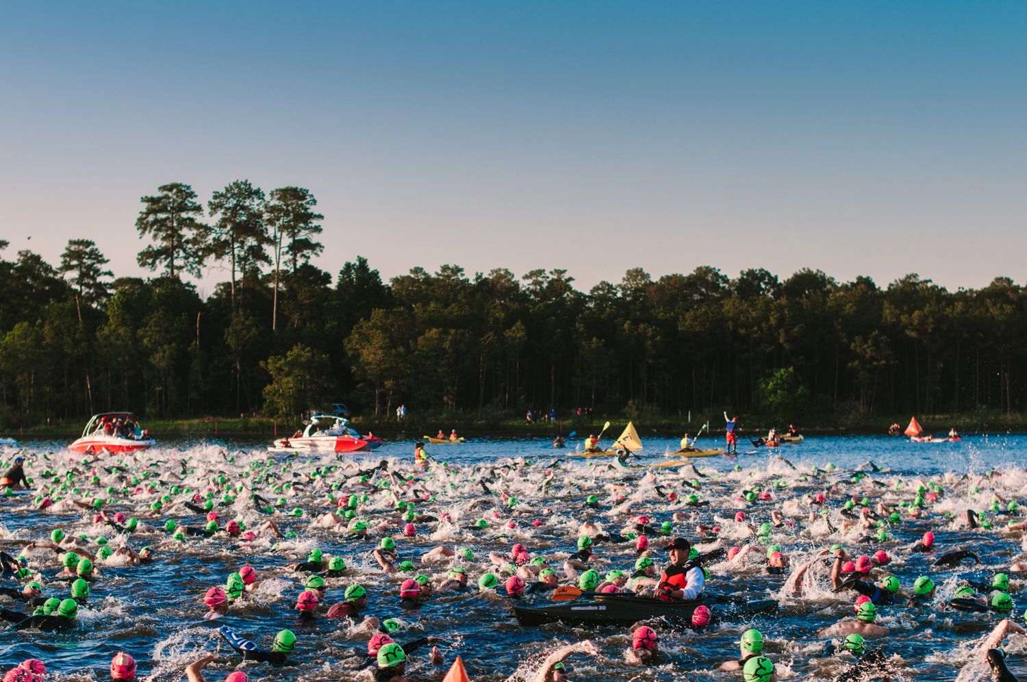 The start of Herman Memorial Ironman Texas was announced with a loud canon that shook the quiet morning in The Woodlands, Texas.