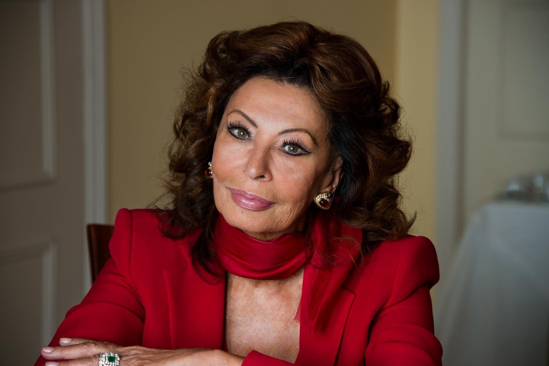 Sophia Loren.Photo by Steve McCurry.