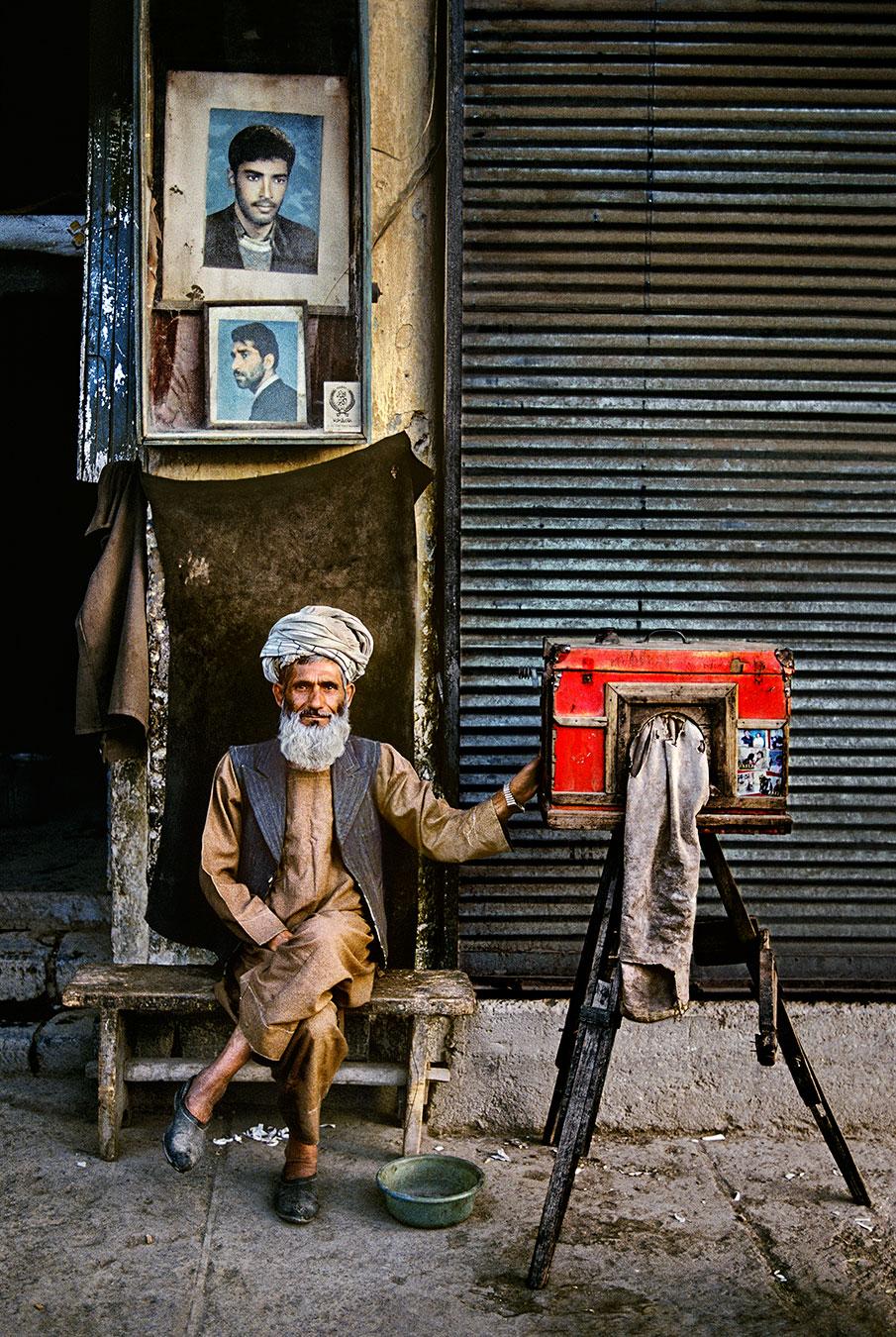 Portrait Photographer. Photo by Steve McCurry.