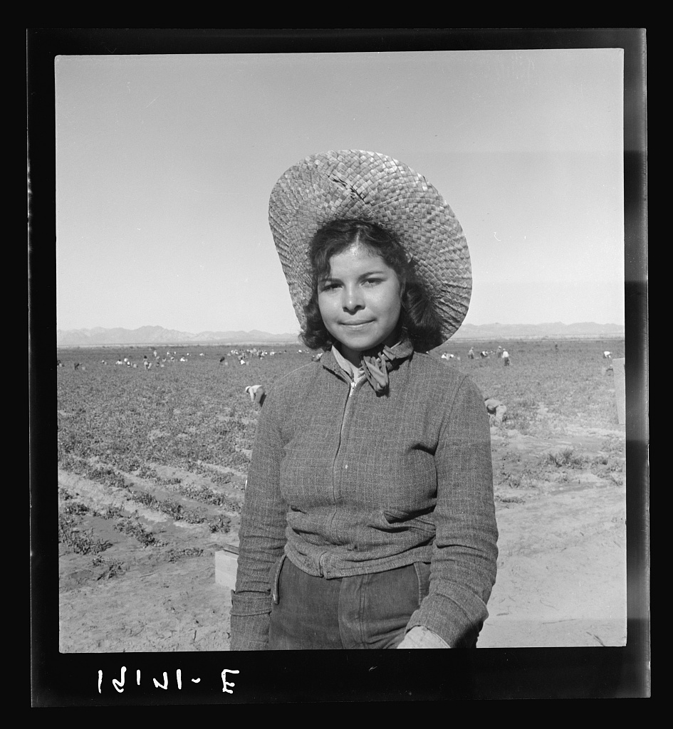 Mexican girl who picks peas for the eastern market. Imperial Valley, California.